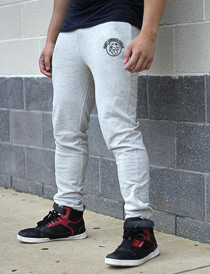 A.C.E Fitted Pants - Concrete Grey - Saiyan Evolution Online Shop Worldwide Shipping - 2