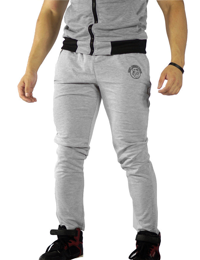 A.C.E Fitted Pants - Concrete Grey - Saiyan Evolution Online Shop Worldwide Shipping - 1