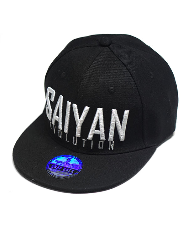V2.0 'Saiyan Evolution' Snapback Hat - Black/White