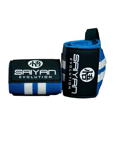 Heavy Duty 'Ascension' Wrist Straps - Blue/White