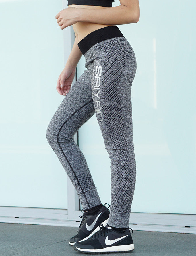'Saiyan Evolution' Full Length Contrast Leggings - Grey/Black - Saiyan Evolution Online Shop Worldwide Shipping