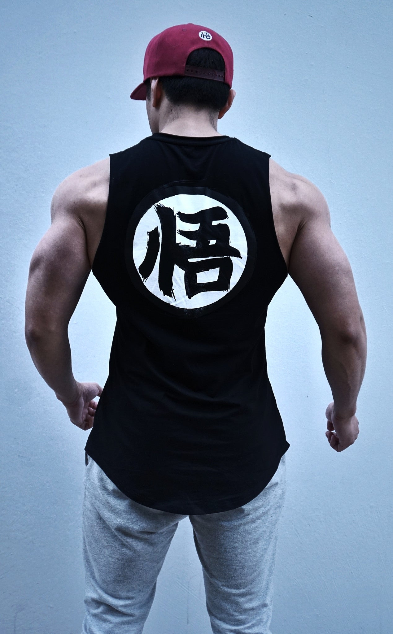 V2.0 Ascension' Muscle Shirt - Rough Cut - Elite Black - Saiyan Evolution Online Shop Worldwide Shipping - 2
