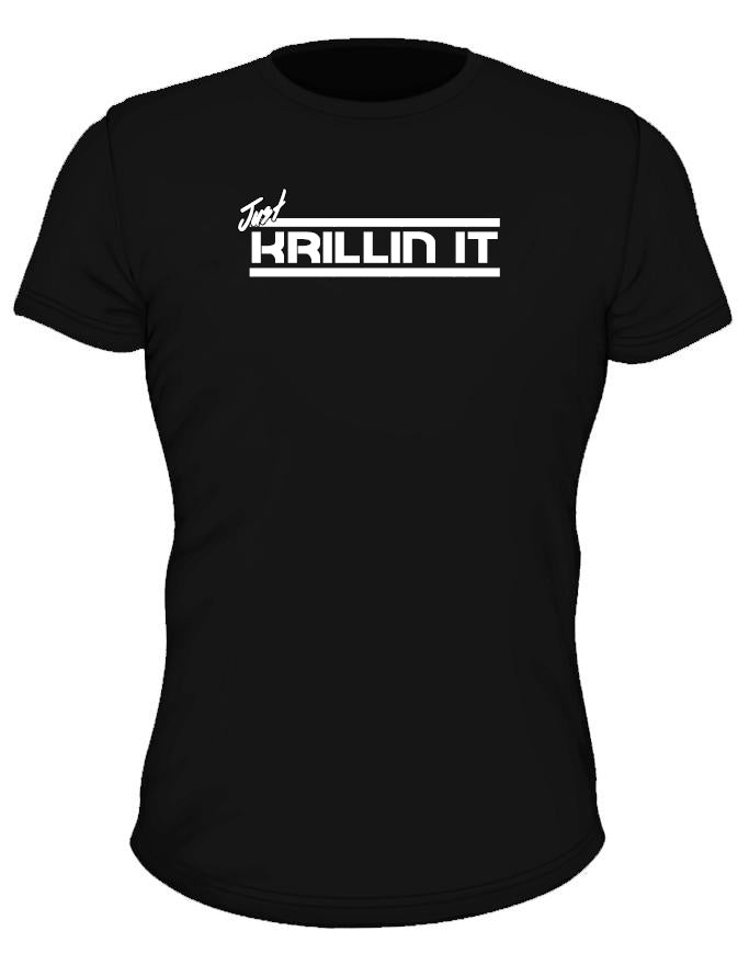 'Just Krillin It' Performance Tee - Elite Black