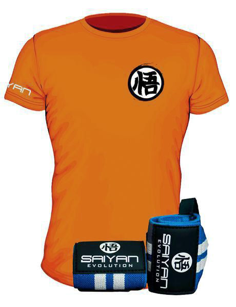 Original Fighter Package - V2.0 Original Orange 'Ascension' Performance T-Shirt w/ Wrist Straps (Save 15%)