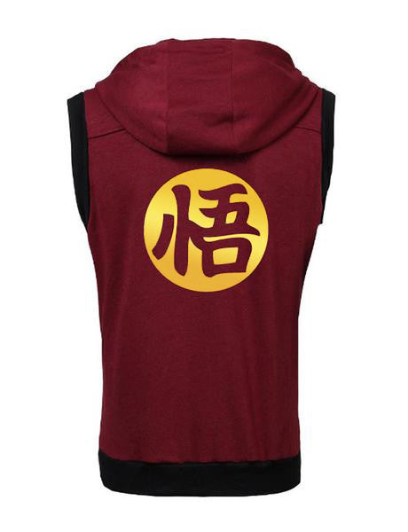 A.C.E SLEEVELESS ZIP HOODIE - FITTED - WINE RED