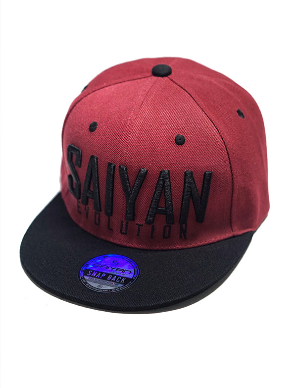 [NEW ARRIVAL] 'Saiyan Evolution' Two Tone Snap back Hat - Blood Red/Black