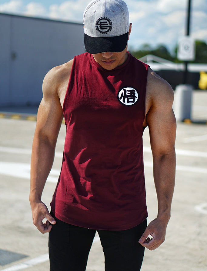 V2.0 Ascension' Muscle Shirt - Rough Cut - Blood Red