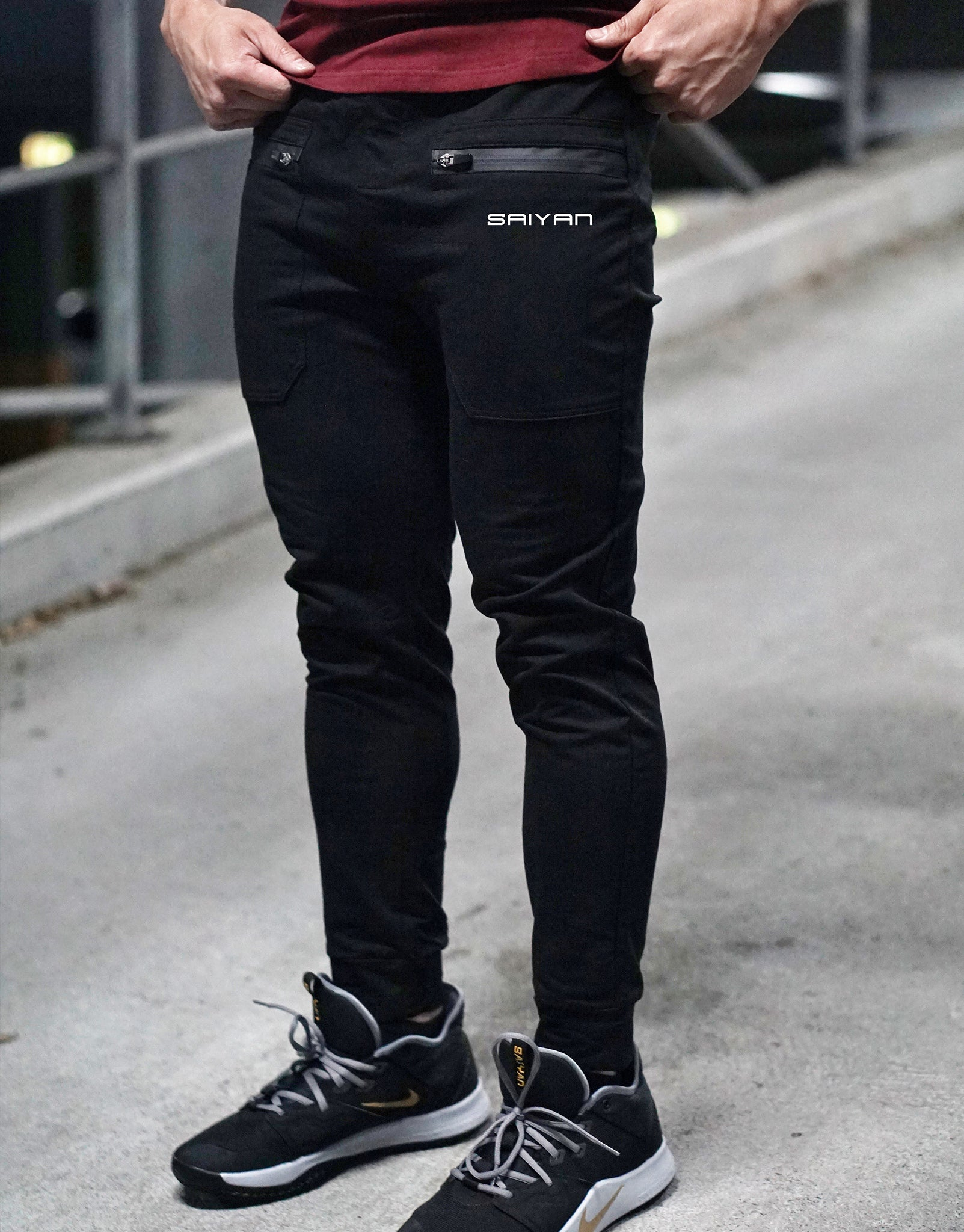 V2 'SAIYAN' Fitted Pants - Elite Black