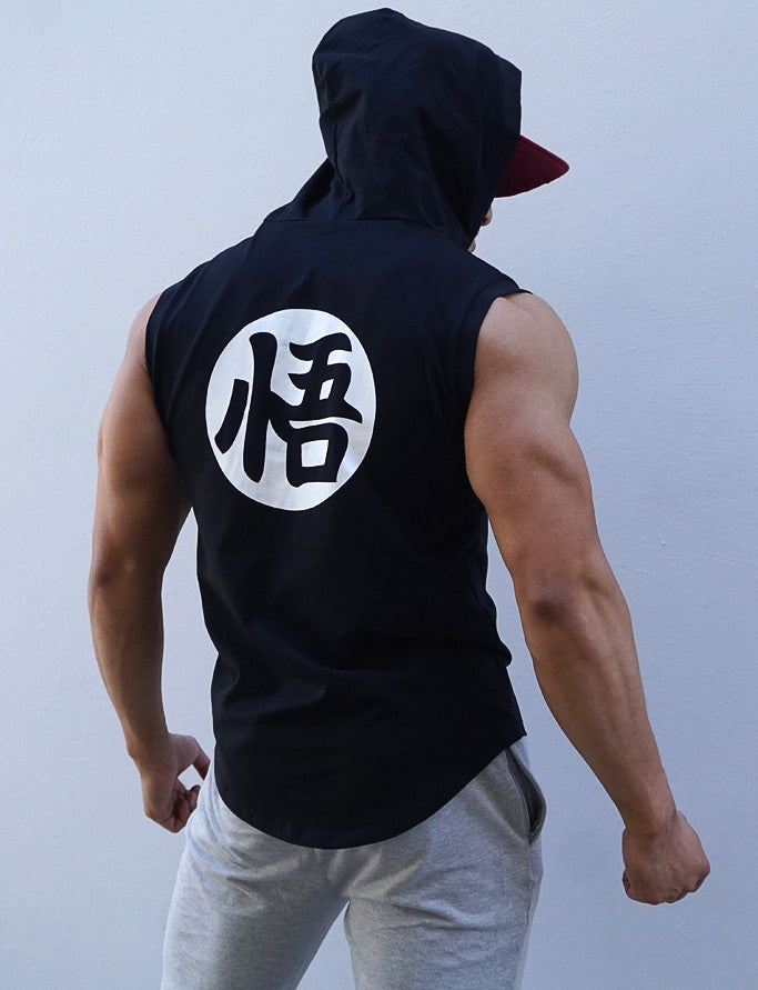 V2.0 'Ascension' Sleeveless Hoodie - Elite Black - Saiyan Evolution Online Shop Worldwide Shipping - 2