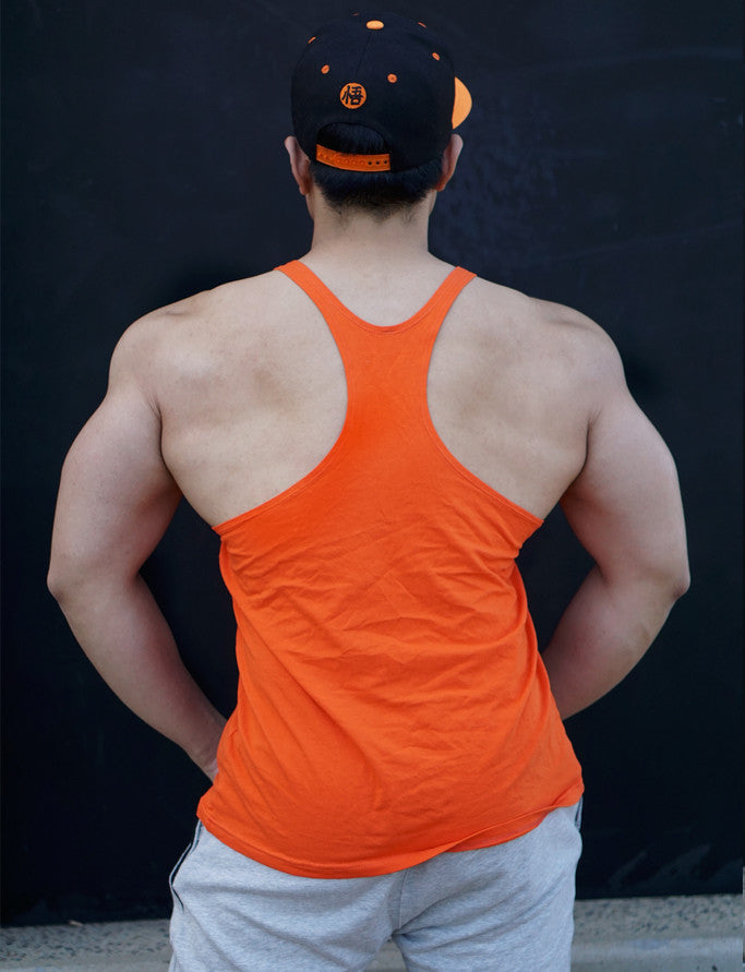 A.C.E Y Back Singlet - Original Orange - Saiyan Evolution Online Shop Worldwide Shipping - 2
