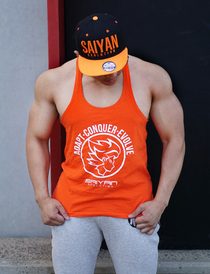 A.C.E Y Back Singlet - Original Orange - Saiyan Evolution Online Shop Worldwide Shipping - 1