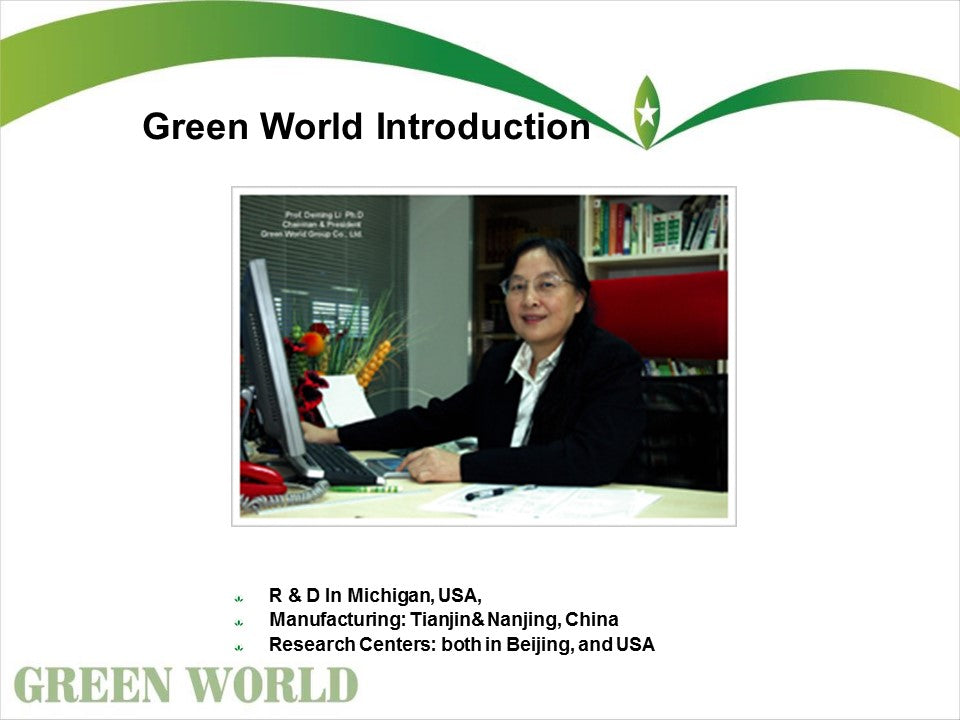 Green World Business Opportunity Presentation Green World Products