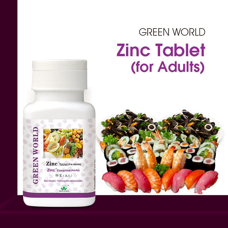 Zinc Tablets For Adults Green World Products