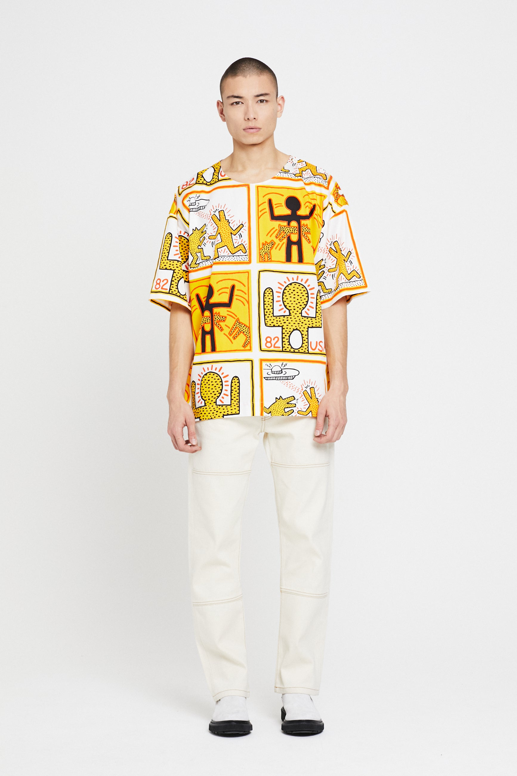 Études Powder All Over Keith Haring T-Shirt 1