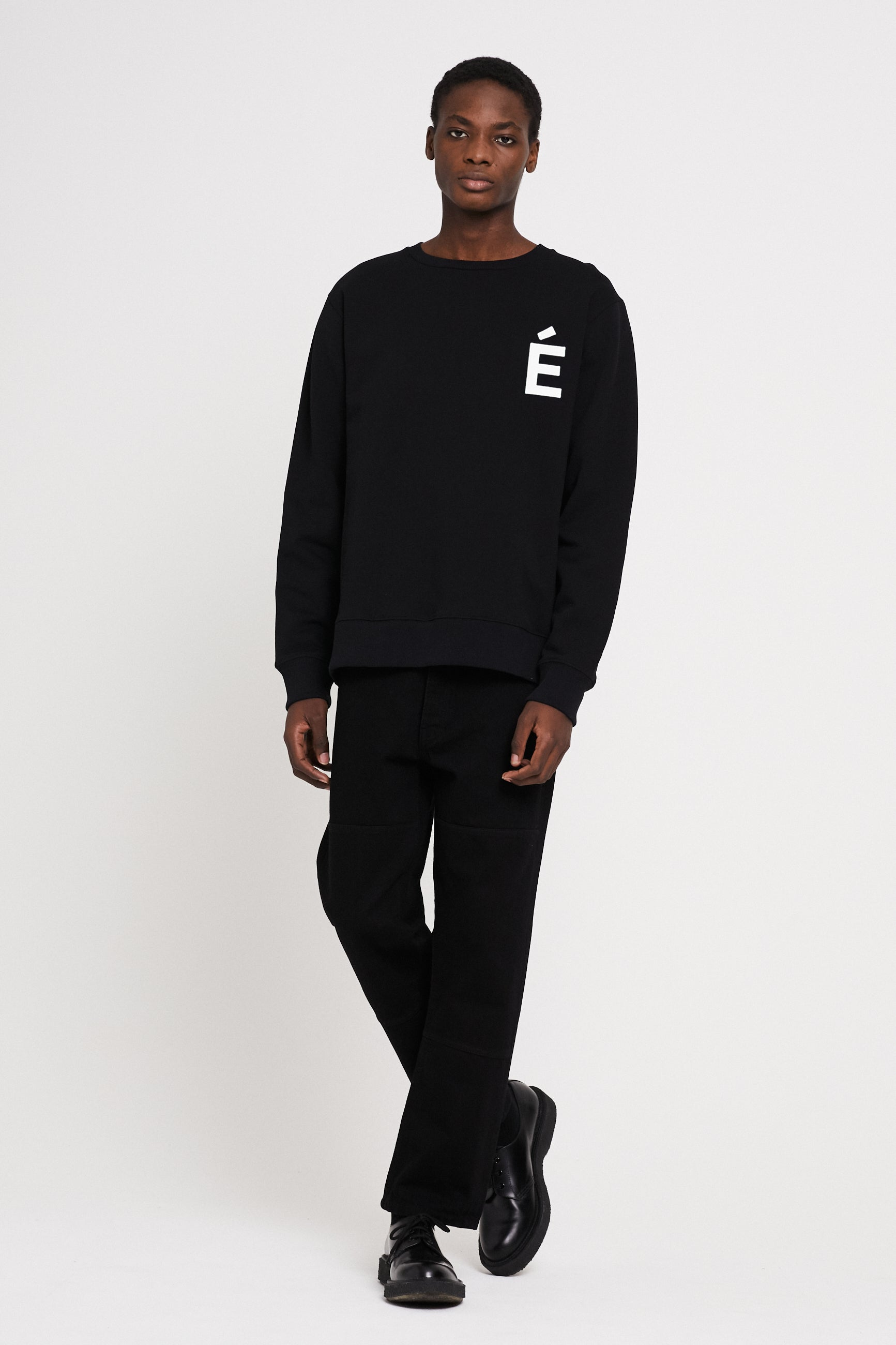 Études Story Patch Black Sweatshirt 3