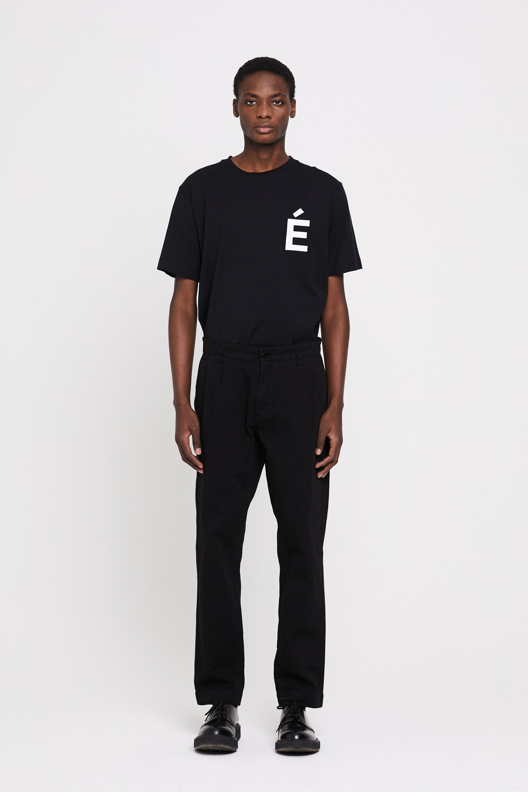 Études Cinema Garment Dyed Black Trousers 1