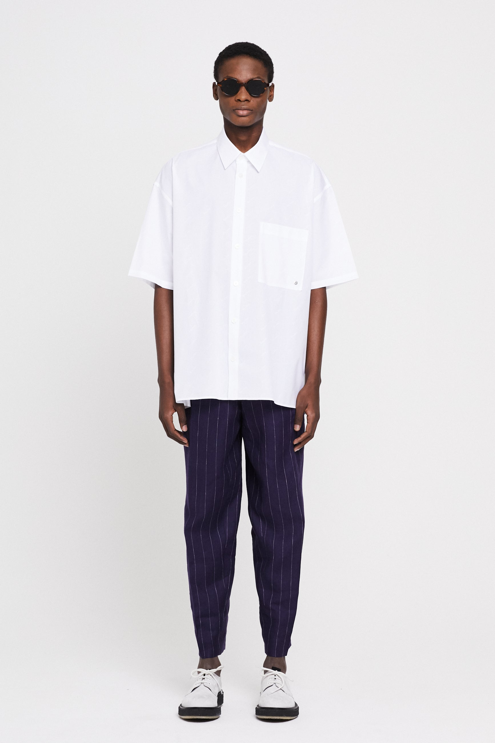 Études Illusion SS Monogram White Shirt 1