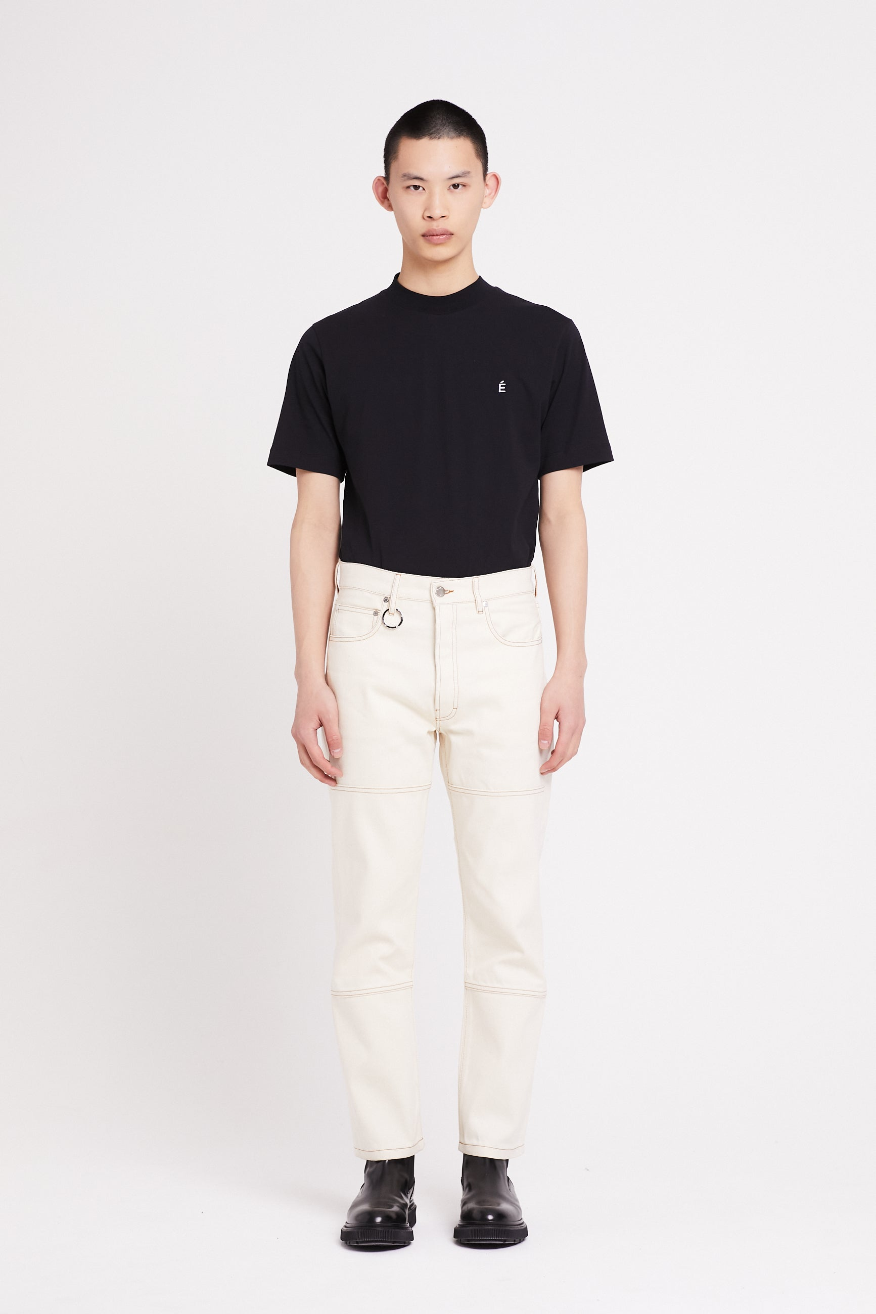Études Corner Off White Trousers 1