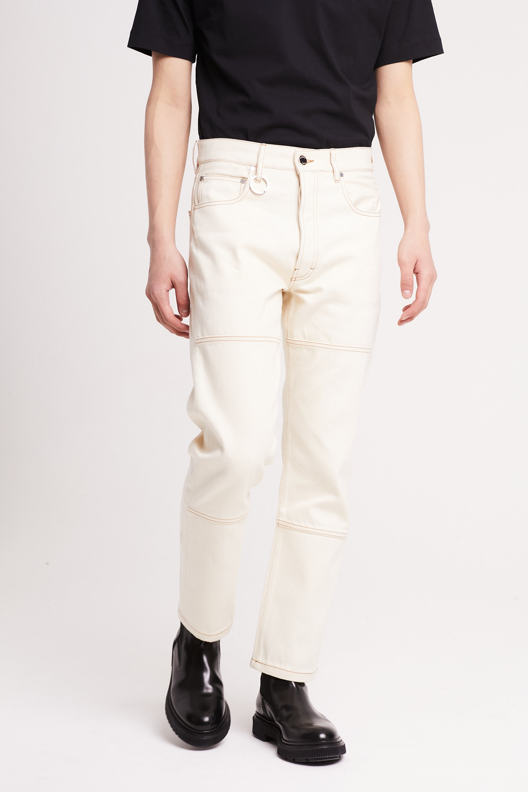 Études Corner Off White Trousers 2