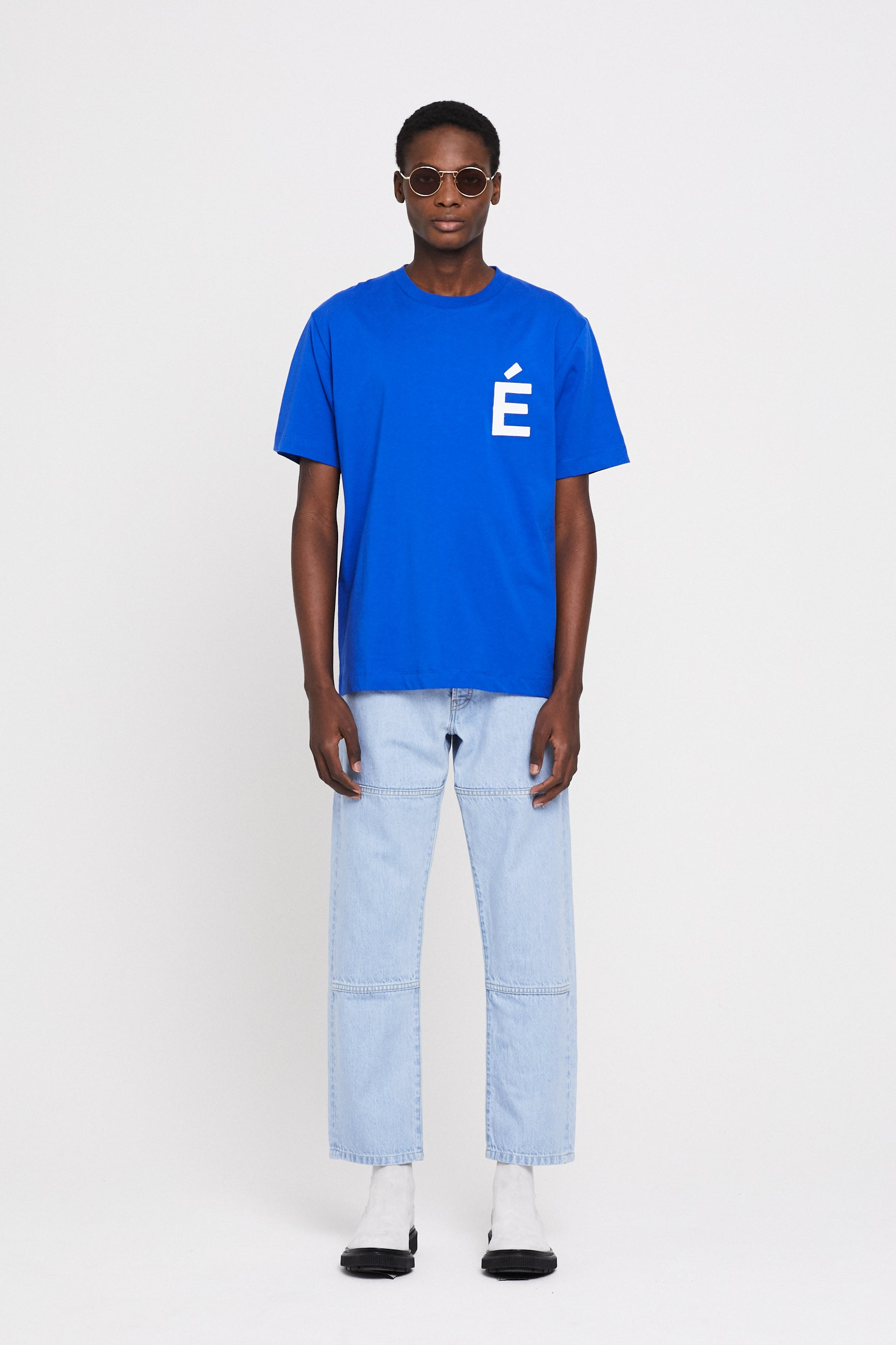 Études Wonder Patch Blue T-Shirt 1