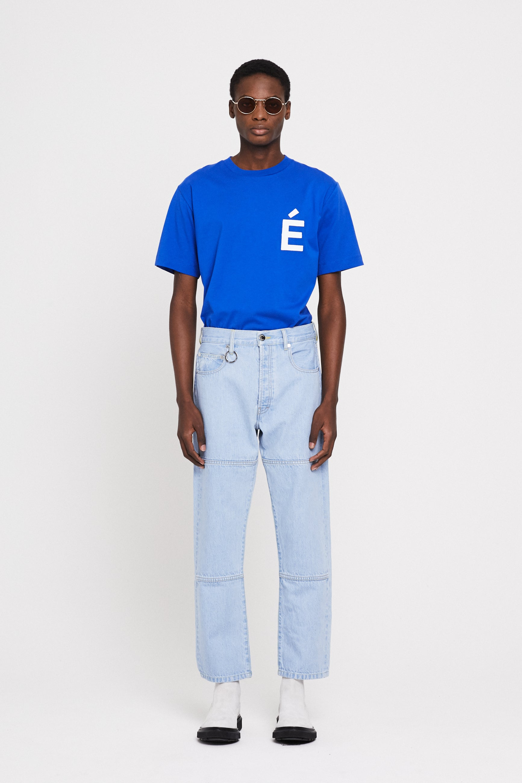 Études Corner Denim Stone Trousers 1