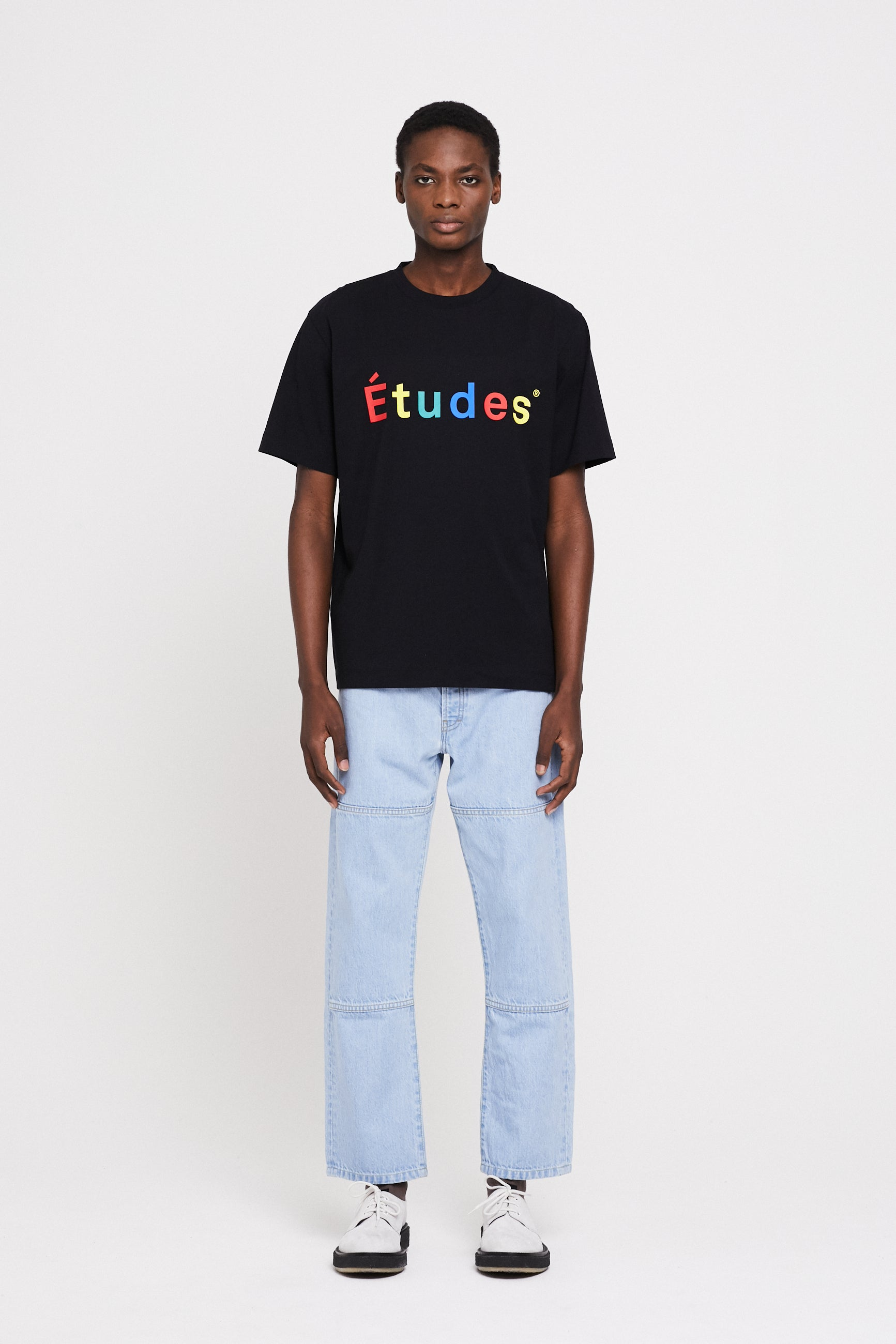 Études Wonder Multico Études Black T-Shirt 1