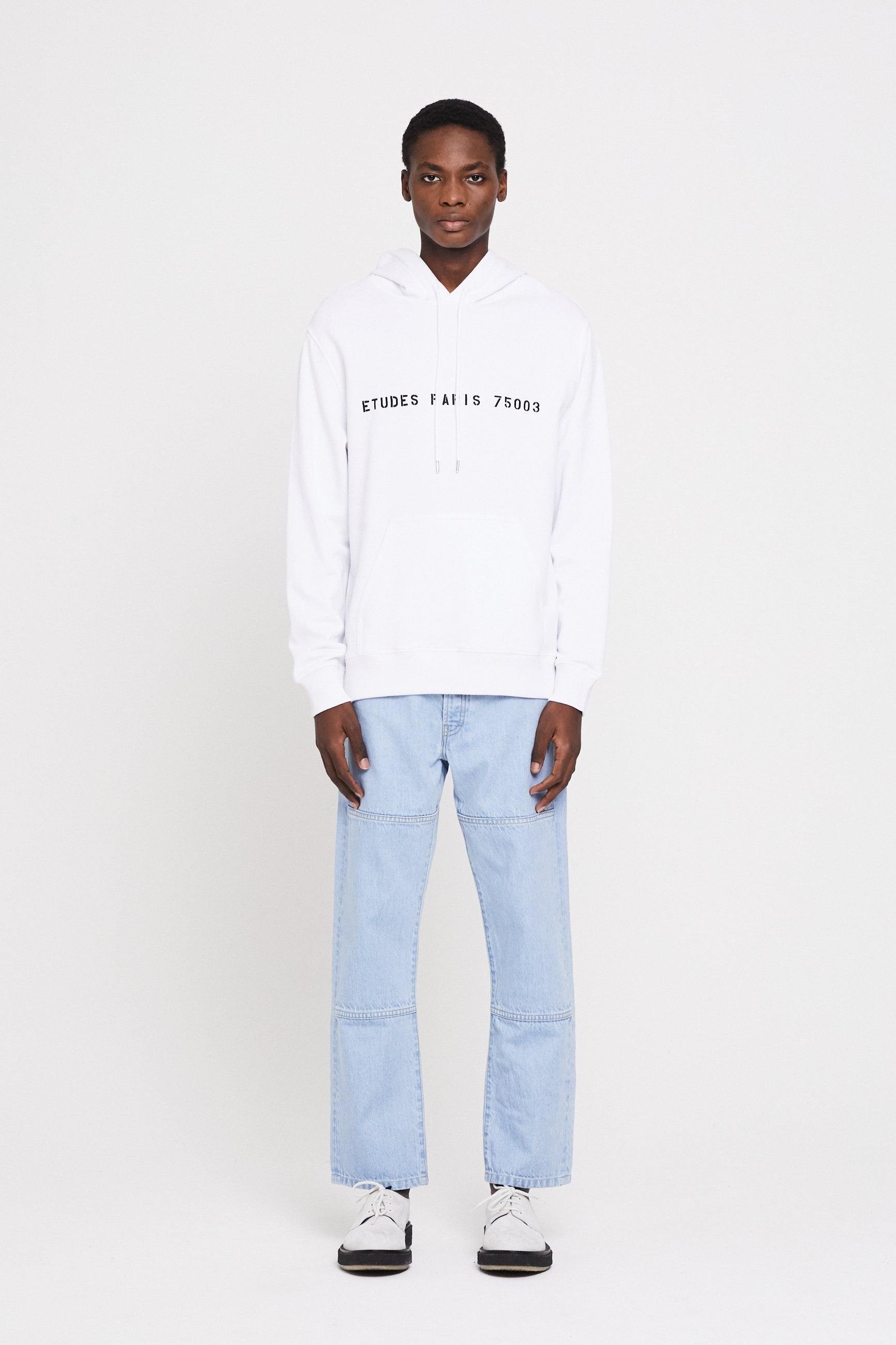 Études Klein Yes Future White Sweatshirt 1
