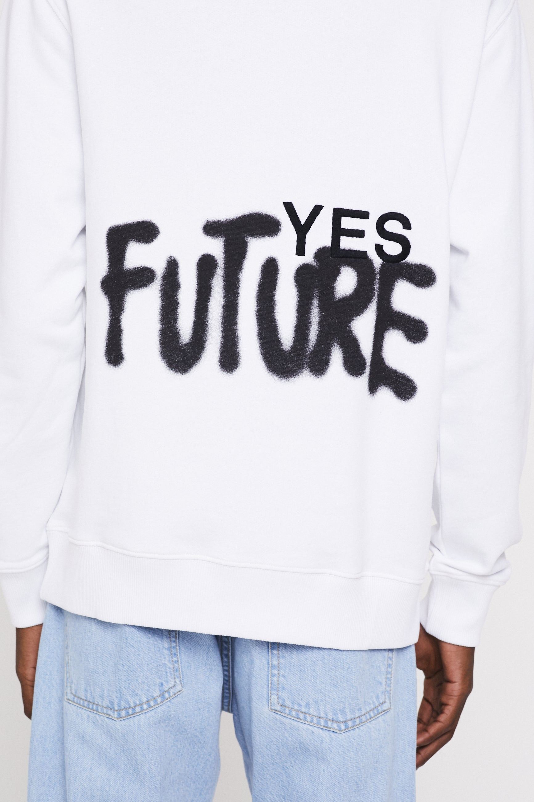 Études Klein Yes Future White Sweatshirt 3