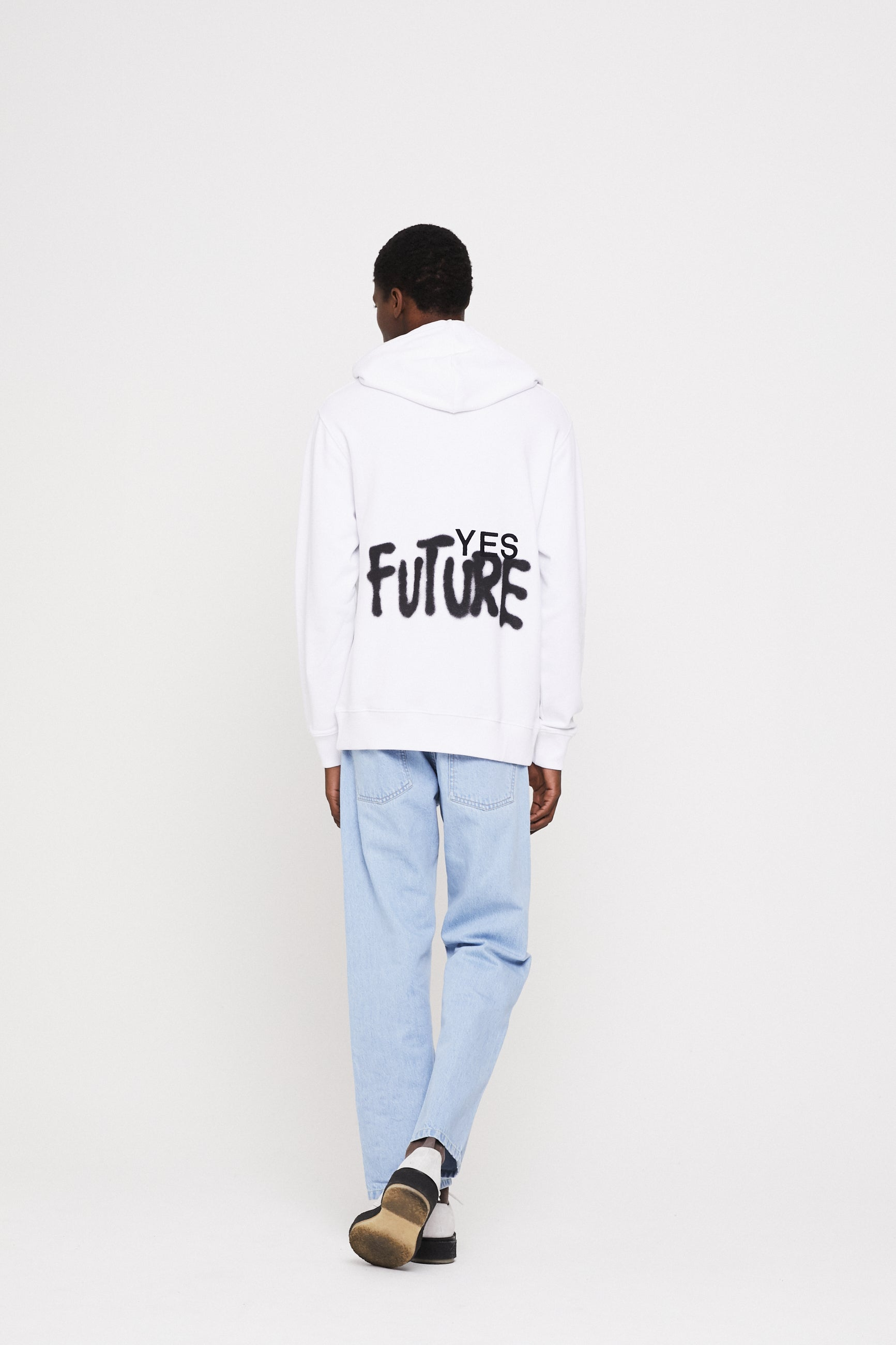 Études Klein Yes Future White Sweatshirt 4