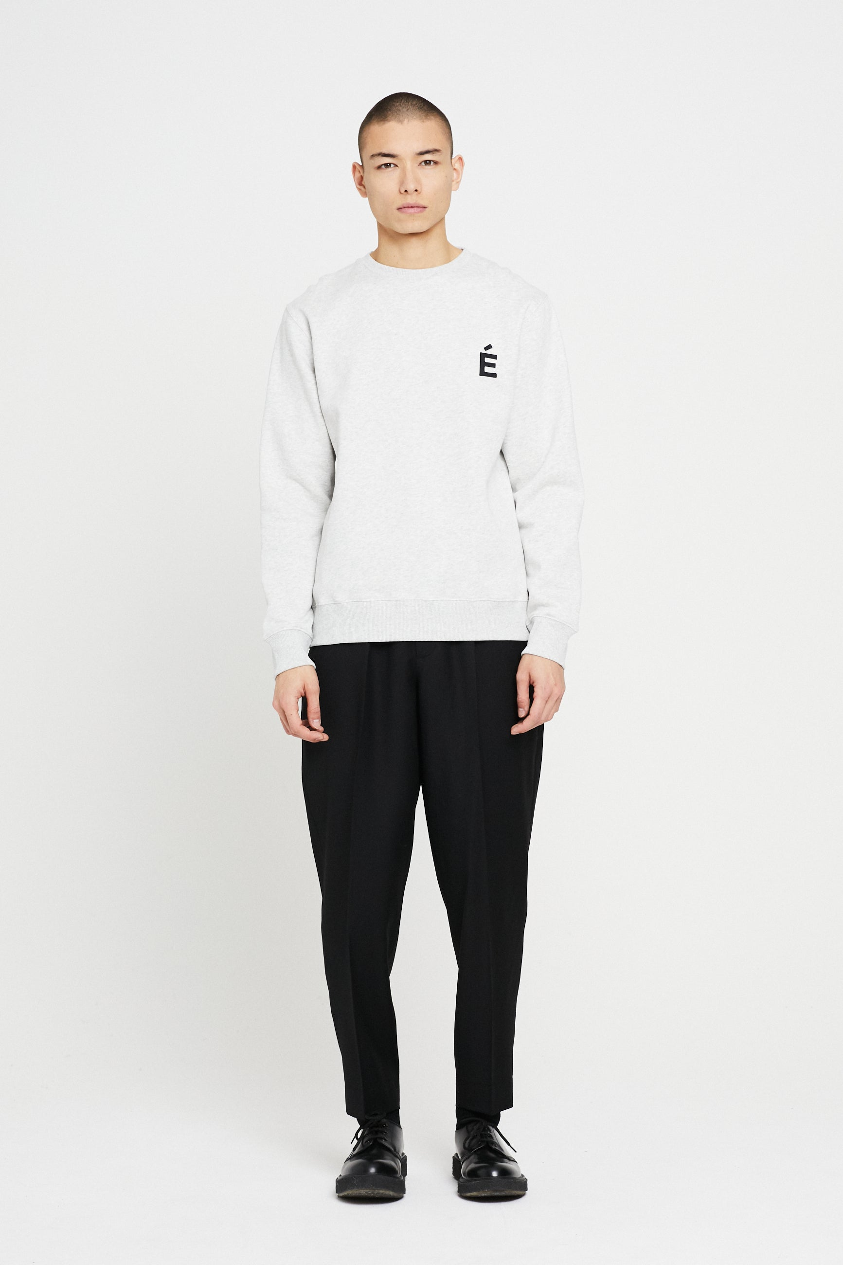 Études Story Patch Heather Grey Sweatshirt 1