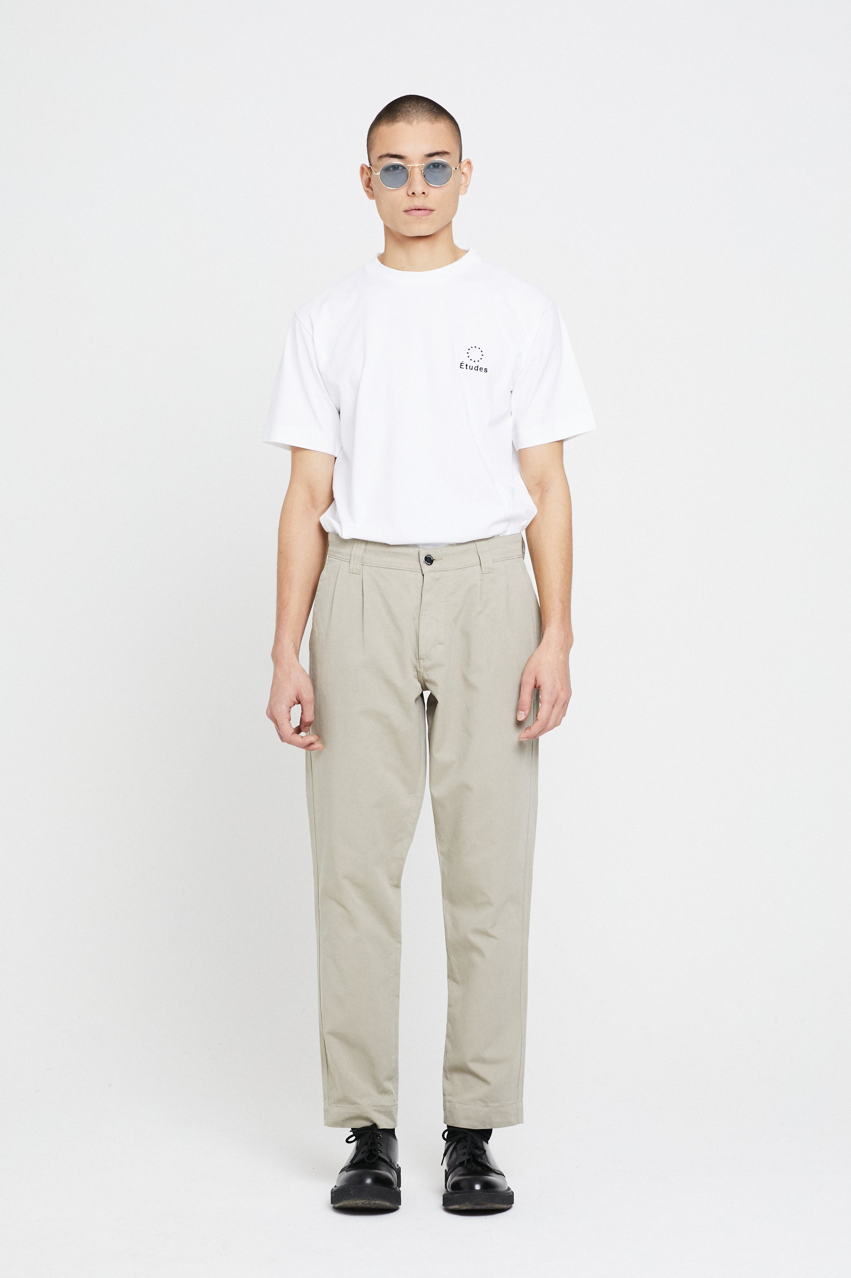 Études Cinema Garment Dyed Beige Trousers 1