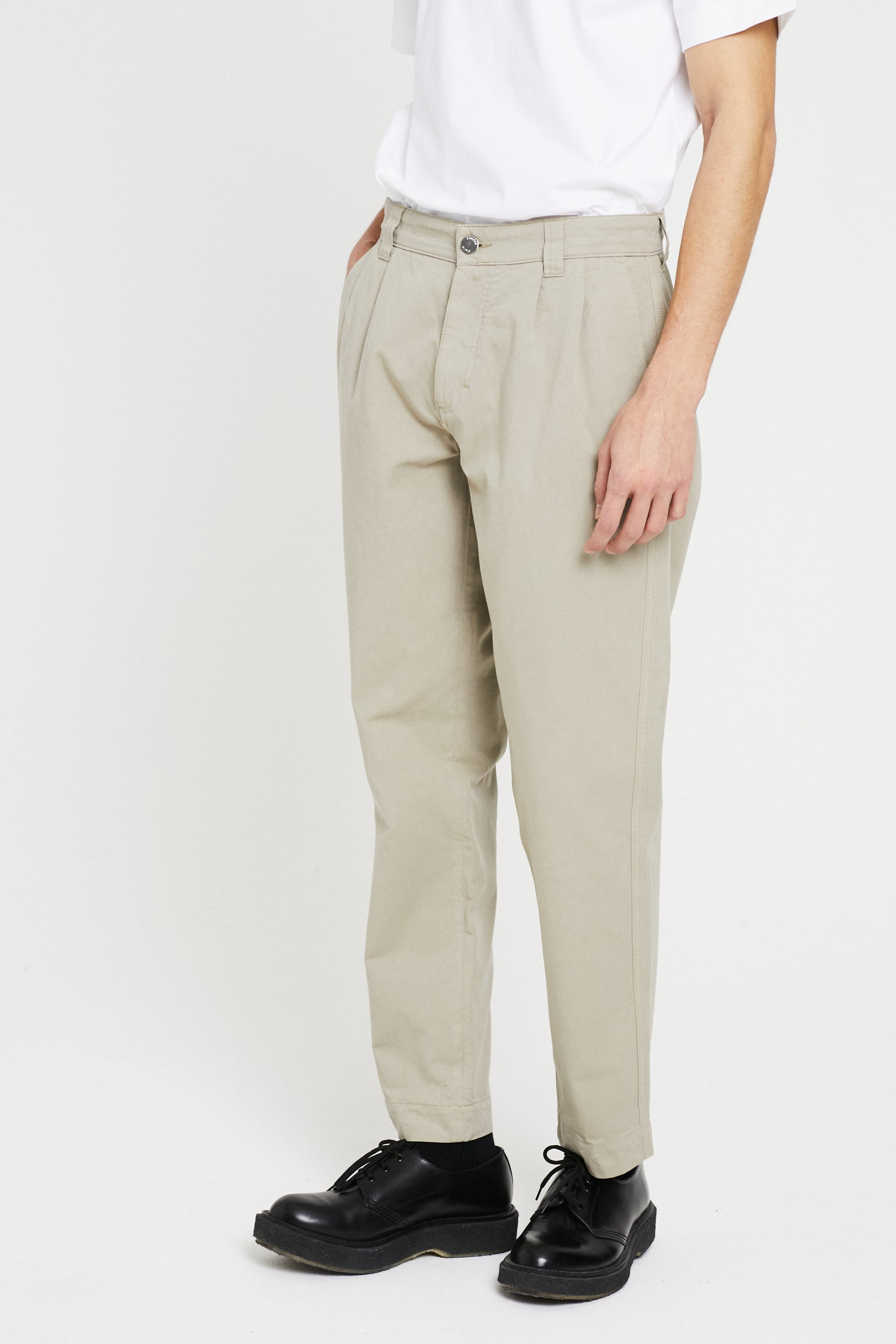 Études Cinema Garment Dyed Beige Trousers 3