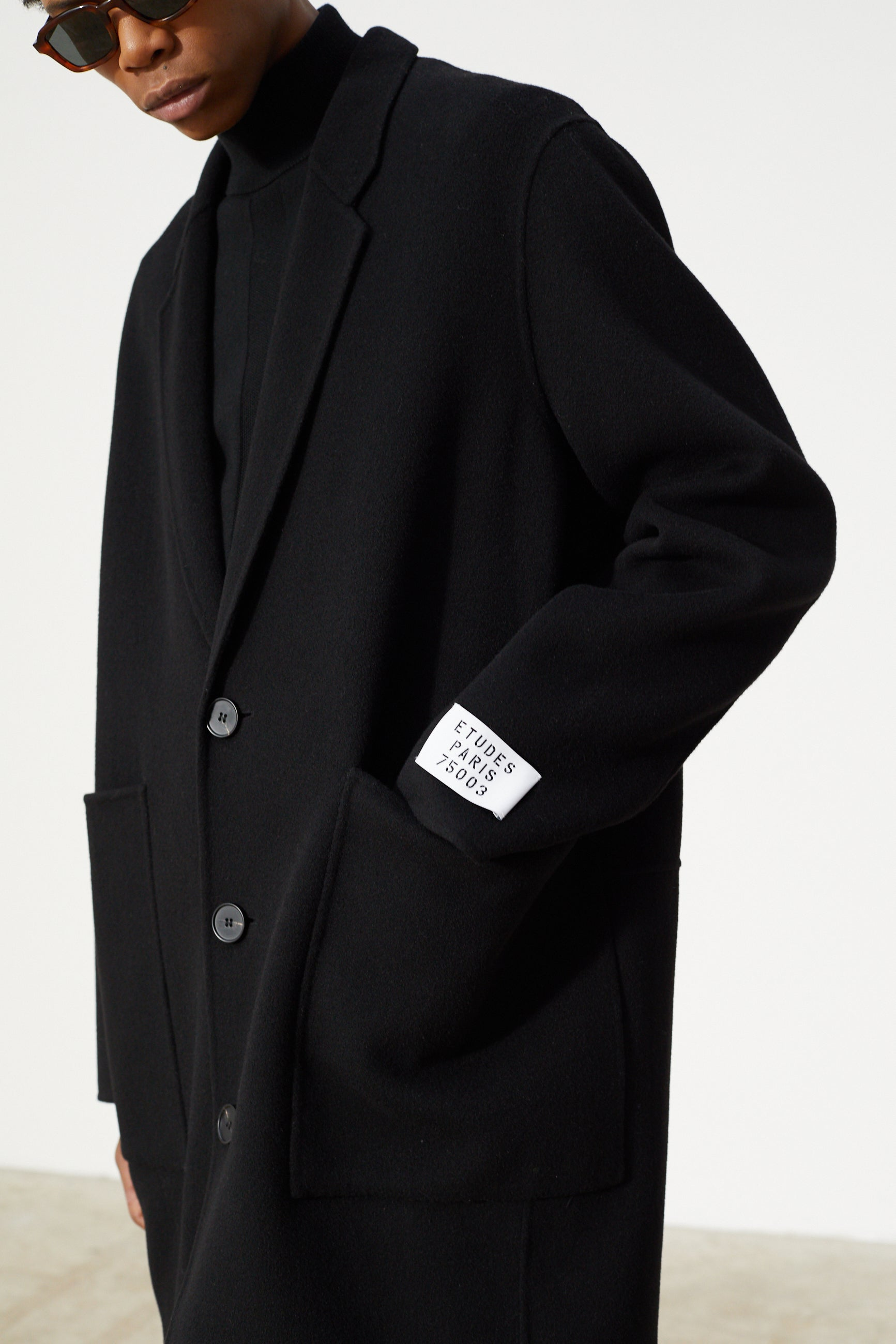 Études Archeology Wool Black Coat 4
