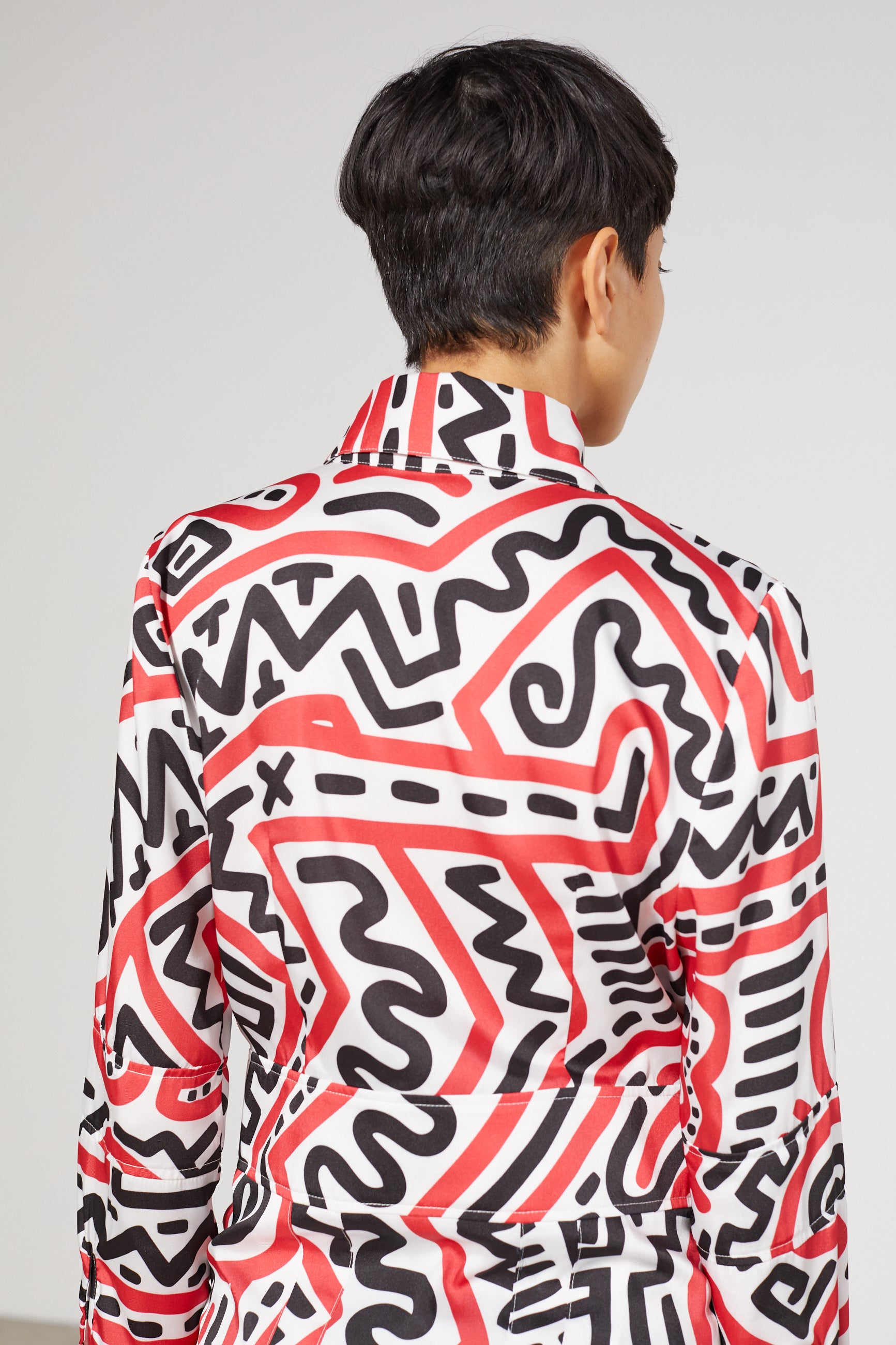 ATTRACTION ALL OVER KEITH HARING DRESS