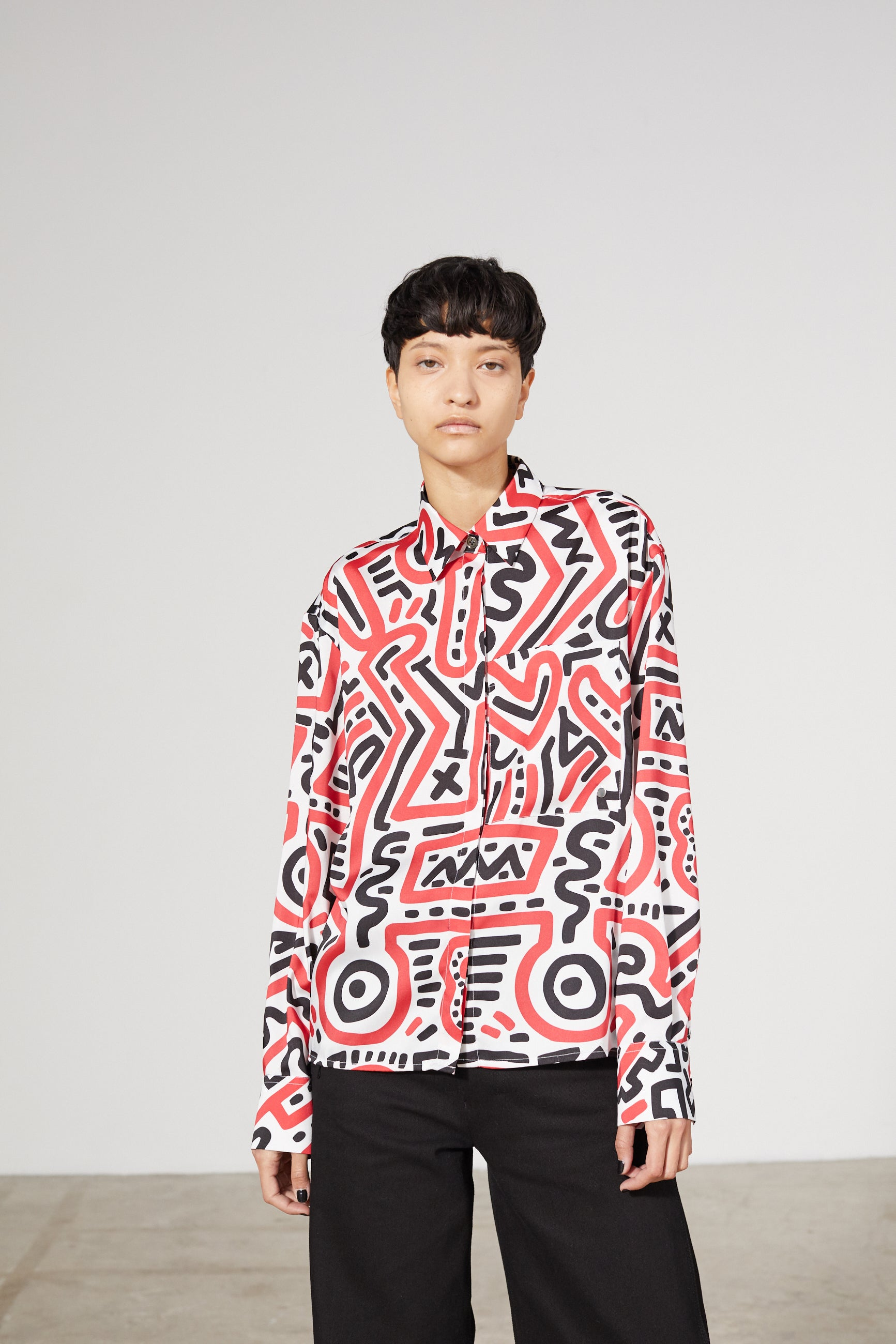 AWAY ALL OVER KEITH HARING SHIRT