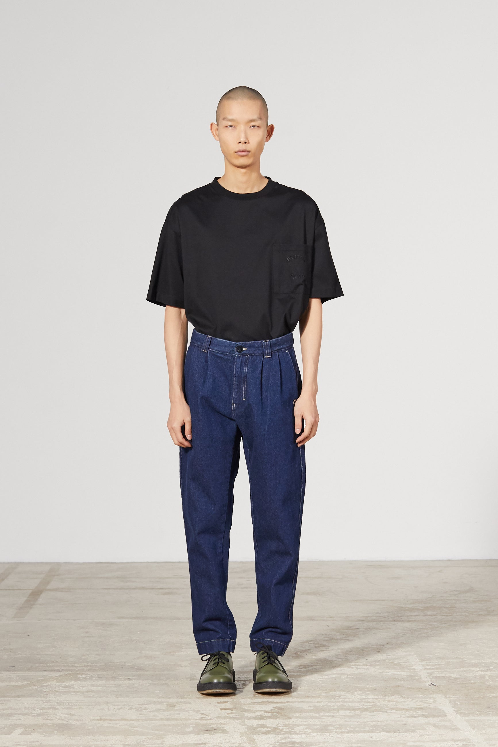 CINEMA DENIM INDIGO TROUSERS