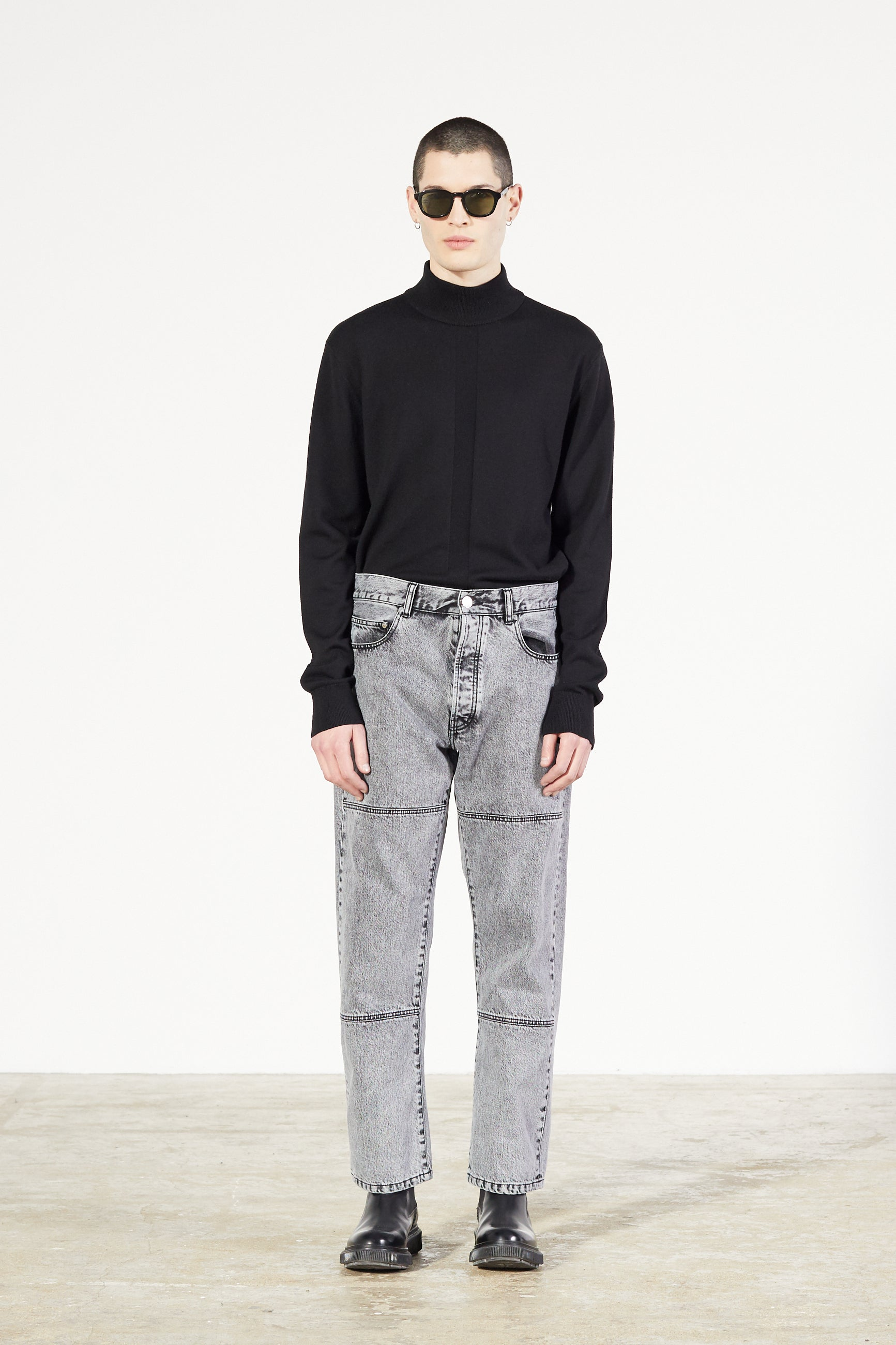 Études Corner Acid Wash Black Trousers 1