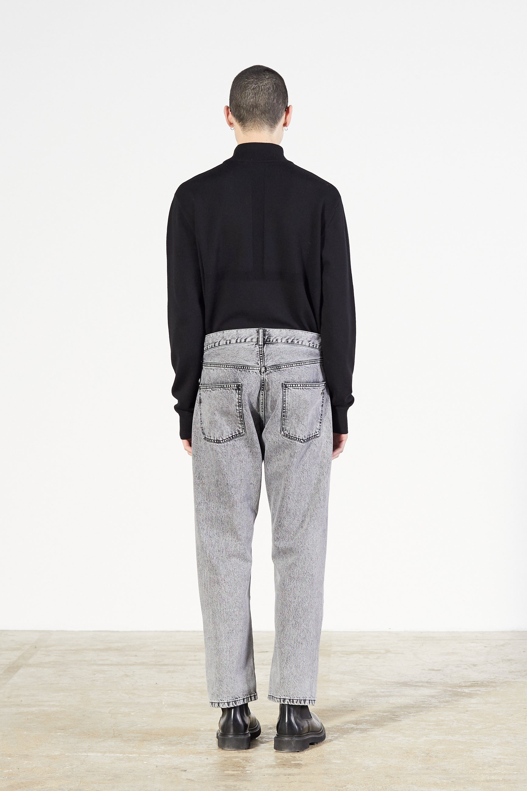 Études Corner Acid Wash Black Trousers 2