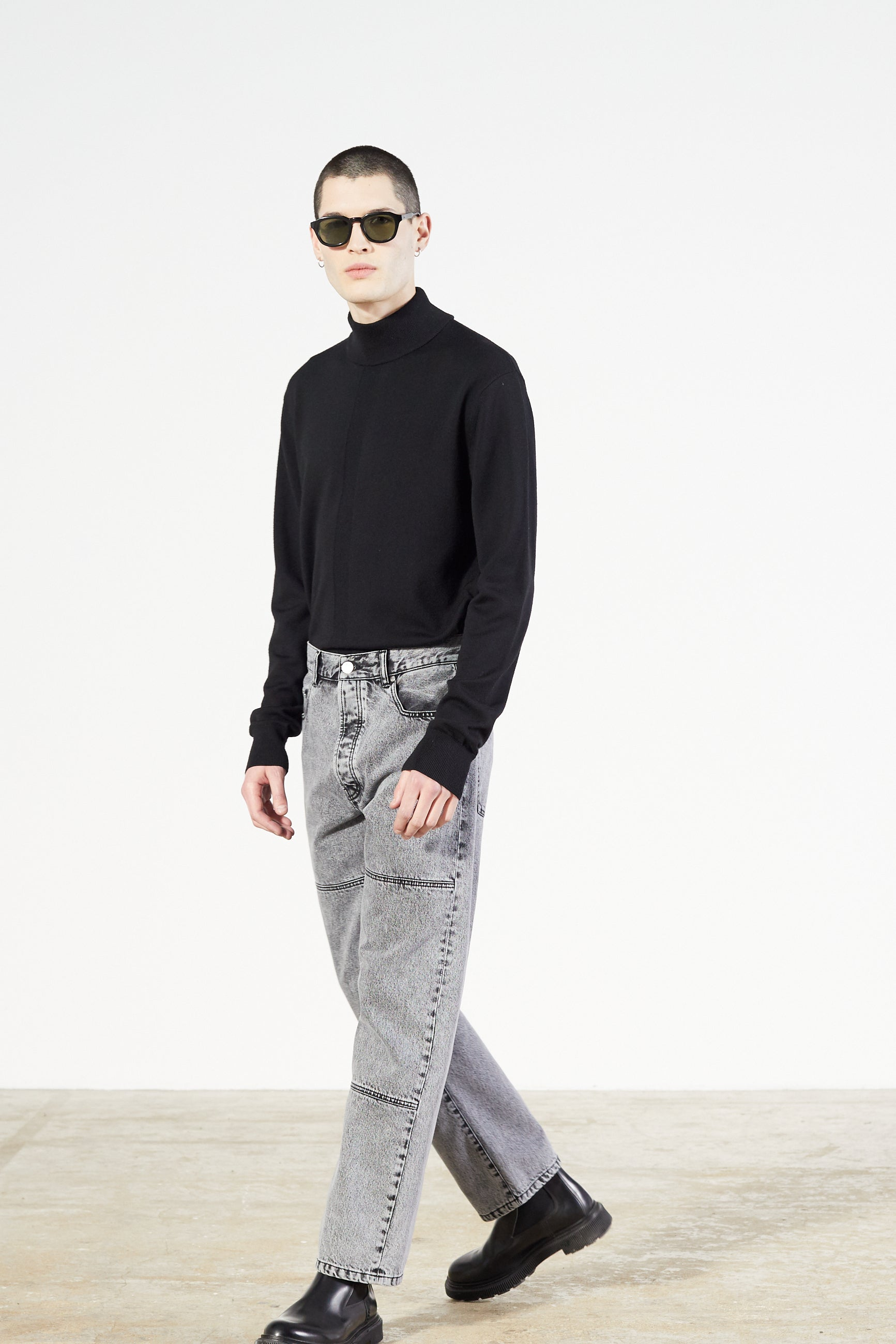 Études Corner Acid Wash Black Trousers 3