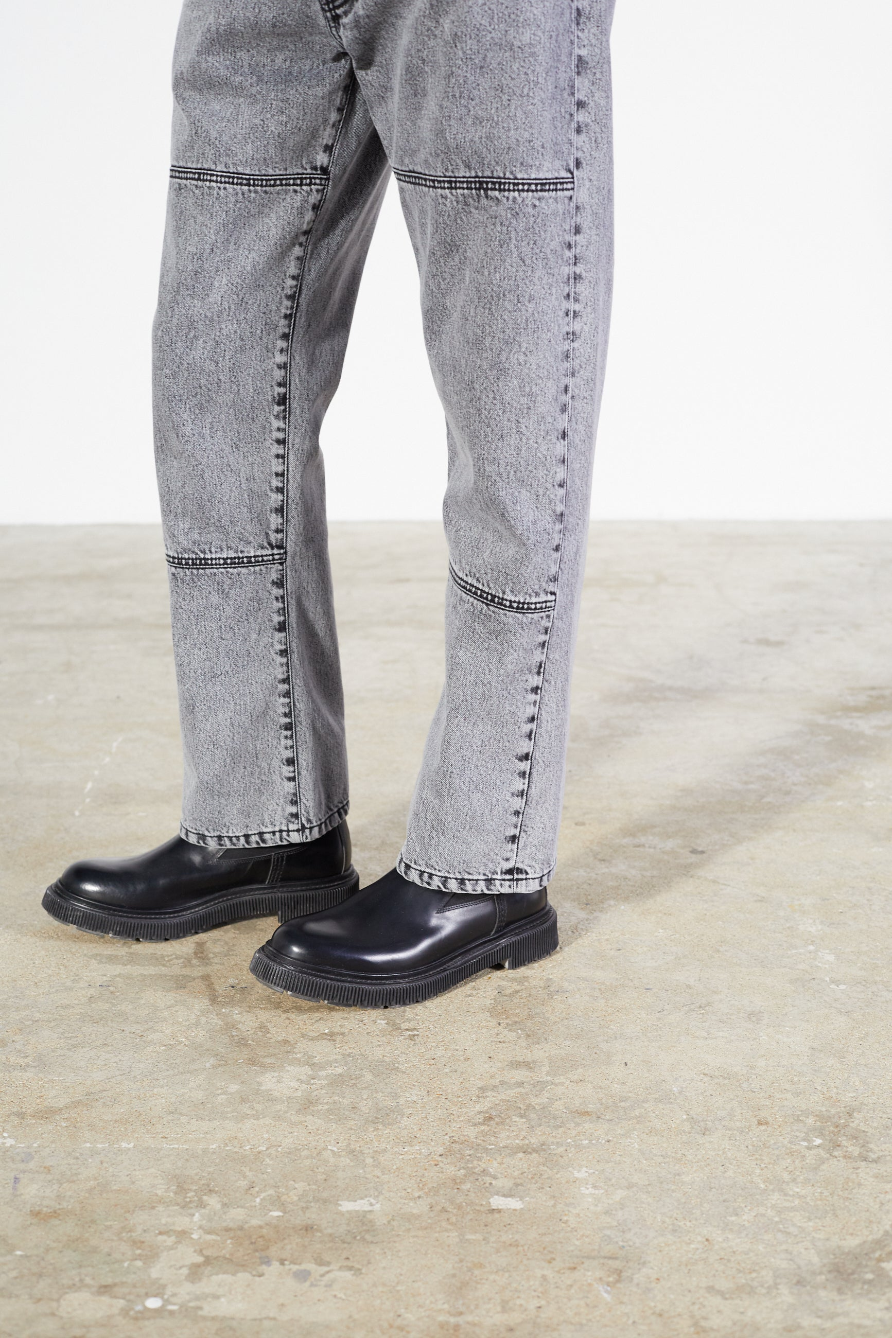 Études Corner Acid Wash Black Trousers 4