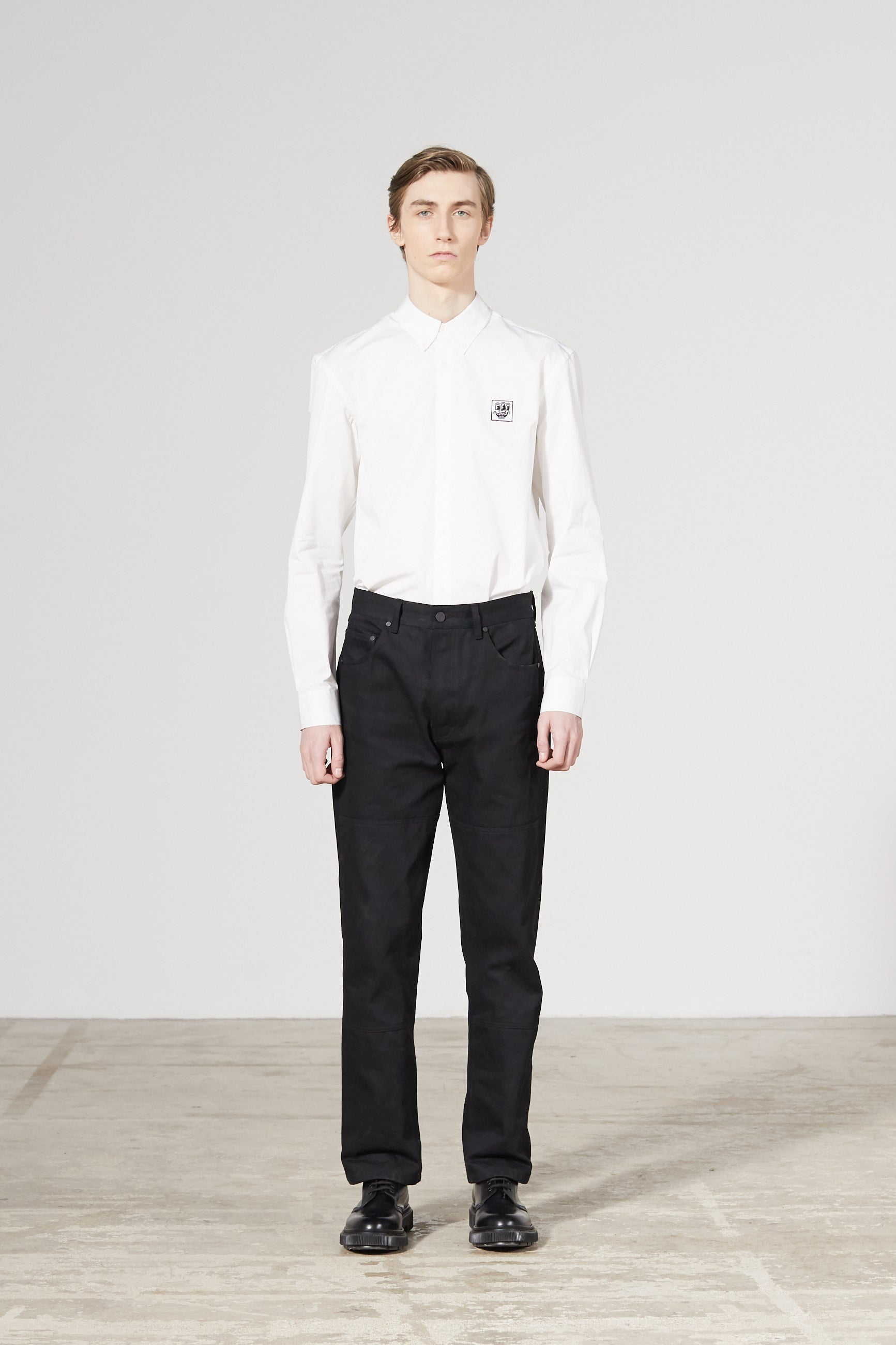 CORNER DENIM KEITH HARING BLACK TROUSERS