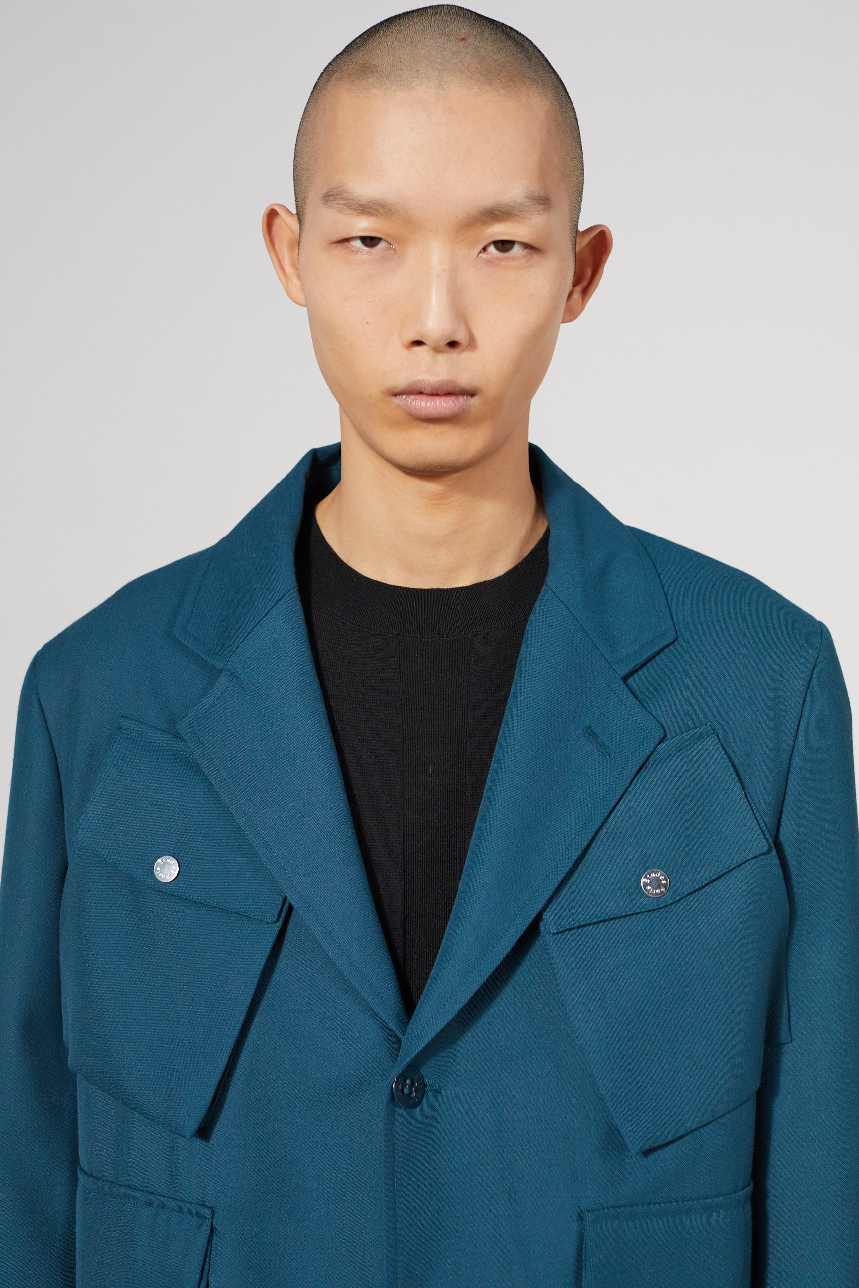 EARTH POCKET TEAL BLAZER