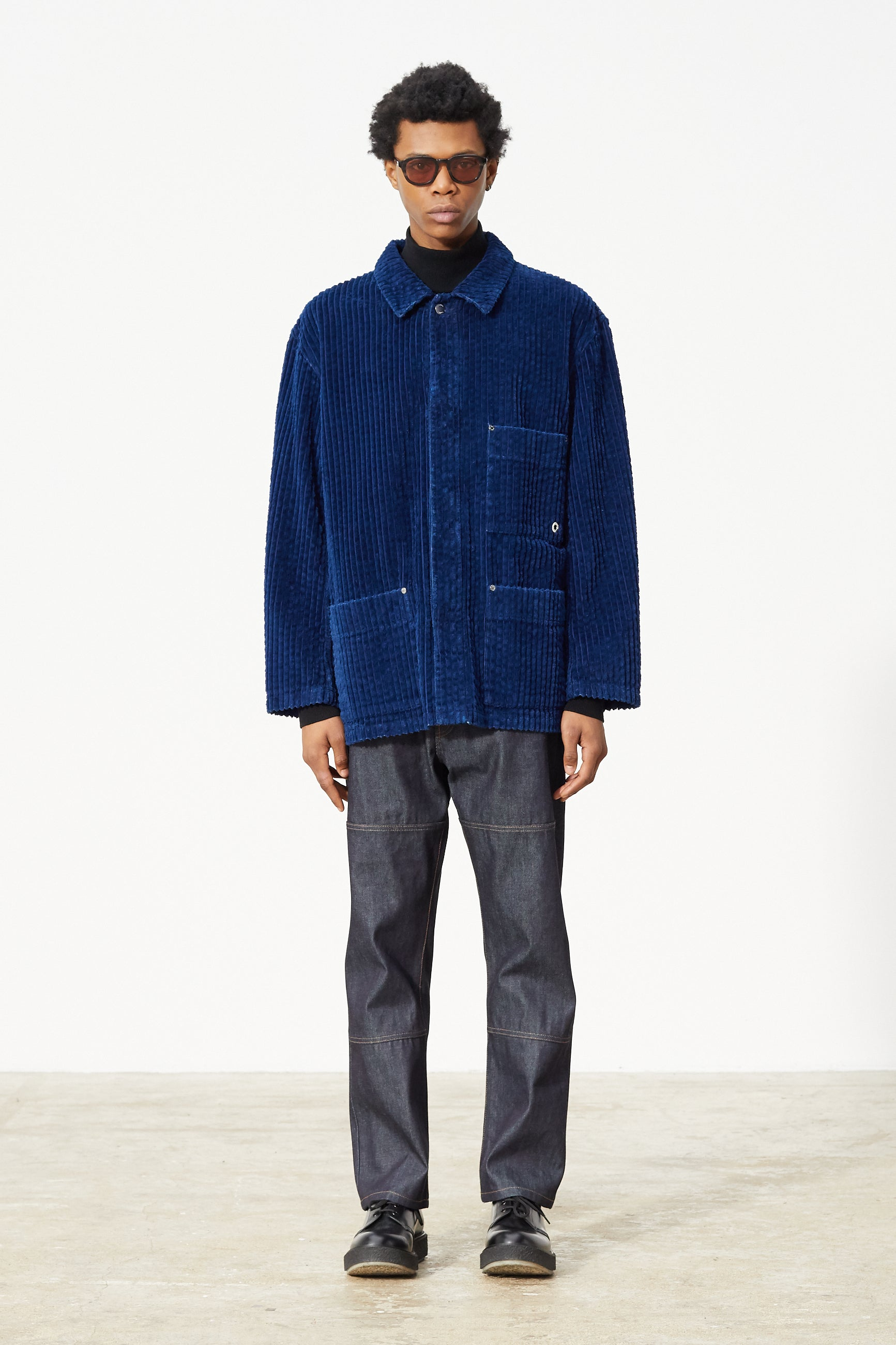 Études Excursion Large Corduroy Indigo Jacket 1