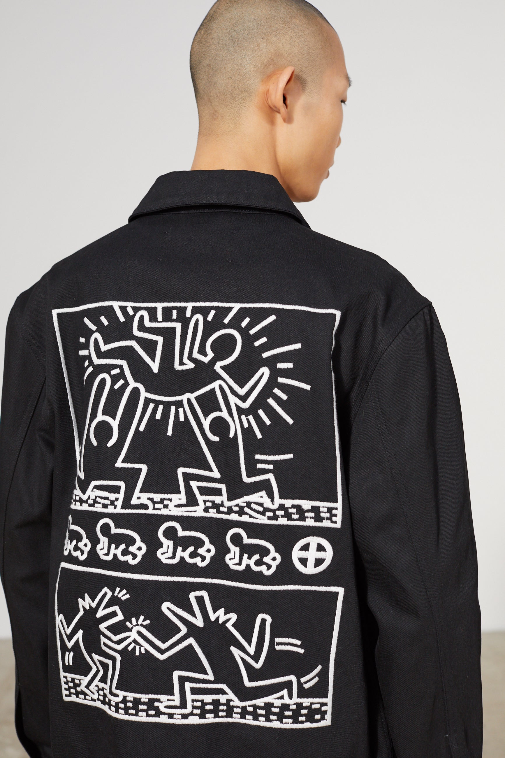 GUEST DENIM KEITH HARING BLACK JACKET