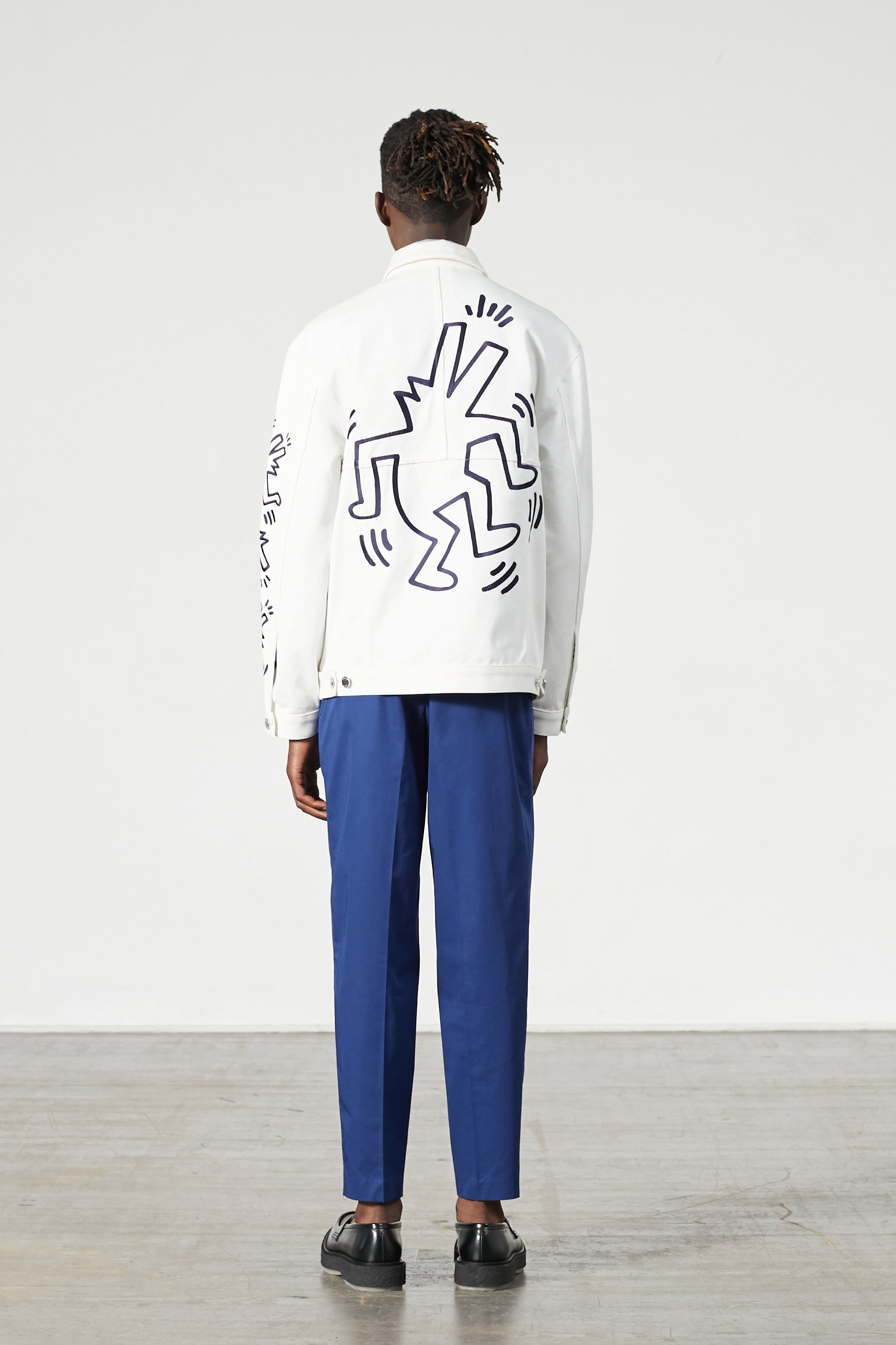 GUEST DENIM KEITH HARING WHITE