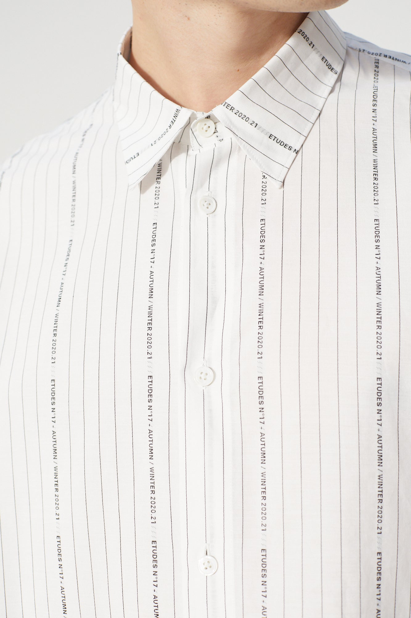 Études Illusion Striped Jacquard Shirt 5