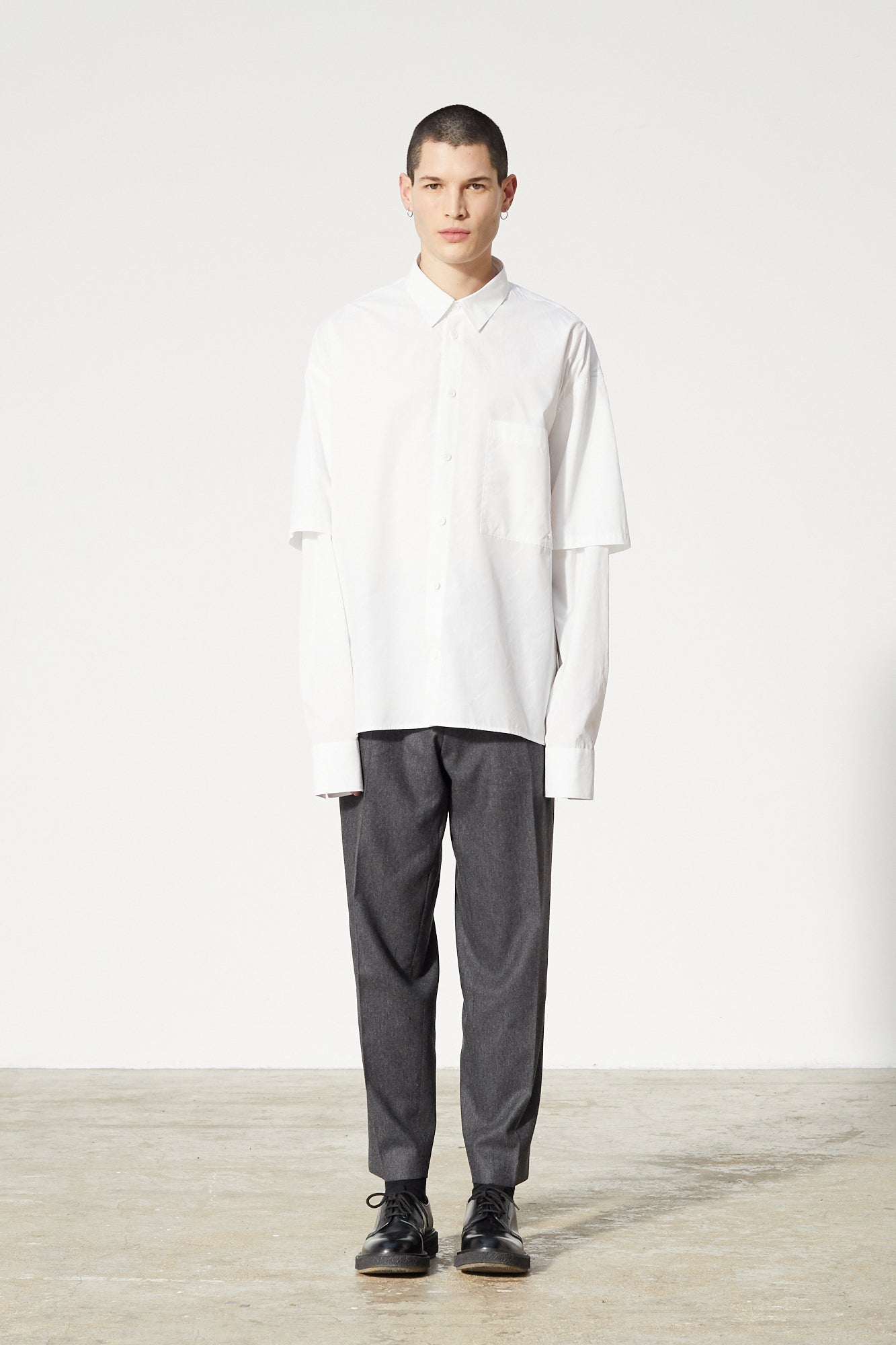 Études Iron Monogram White Shirt 1