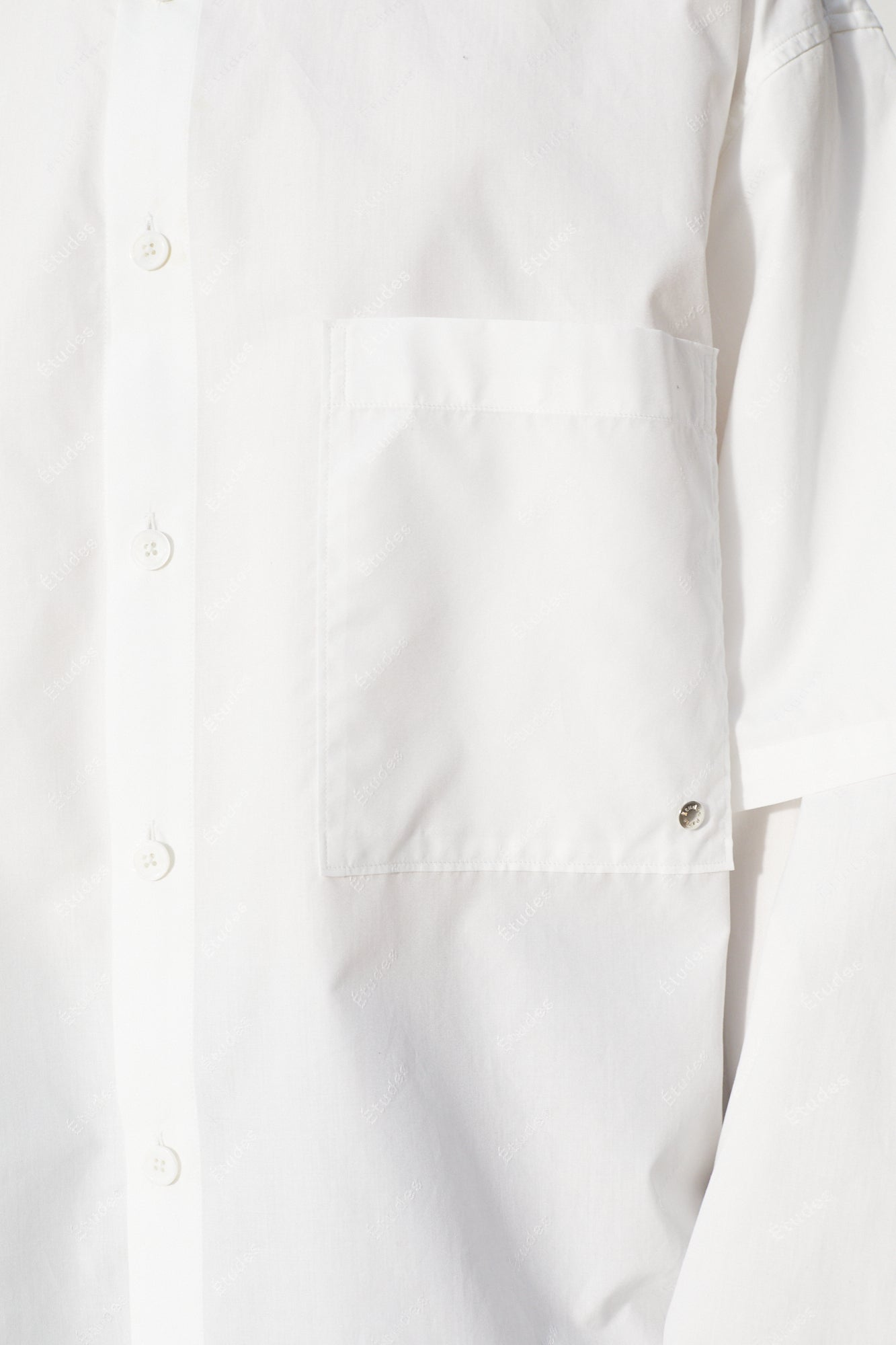 Études Iron Monogram White Shirt 4