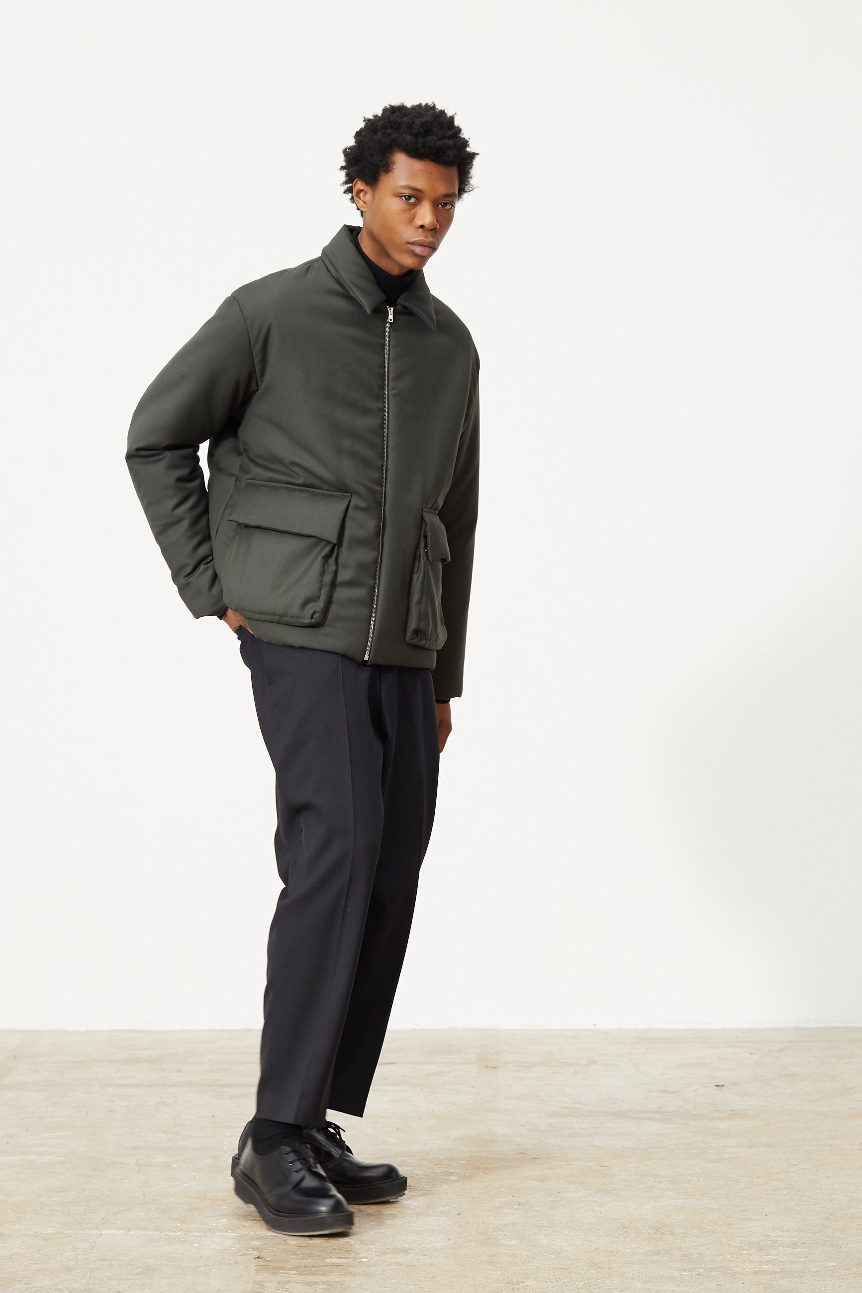 Études Orion Padded Army Green Jacket 3