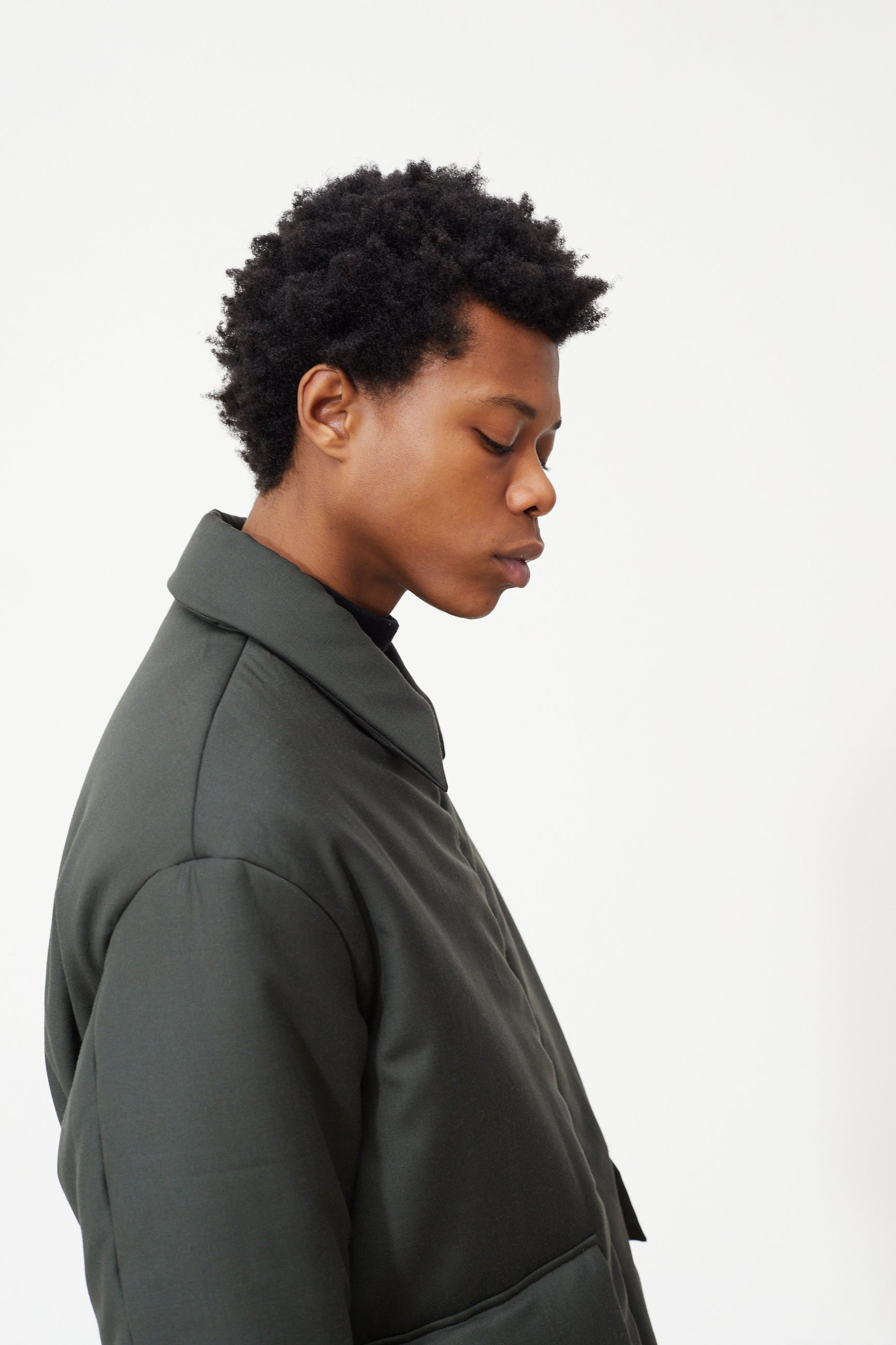 Études Orion Padded Army Green Jacket 4